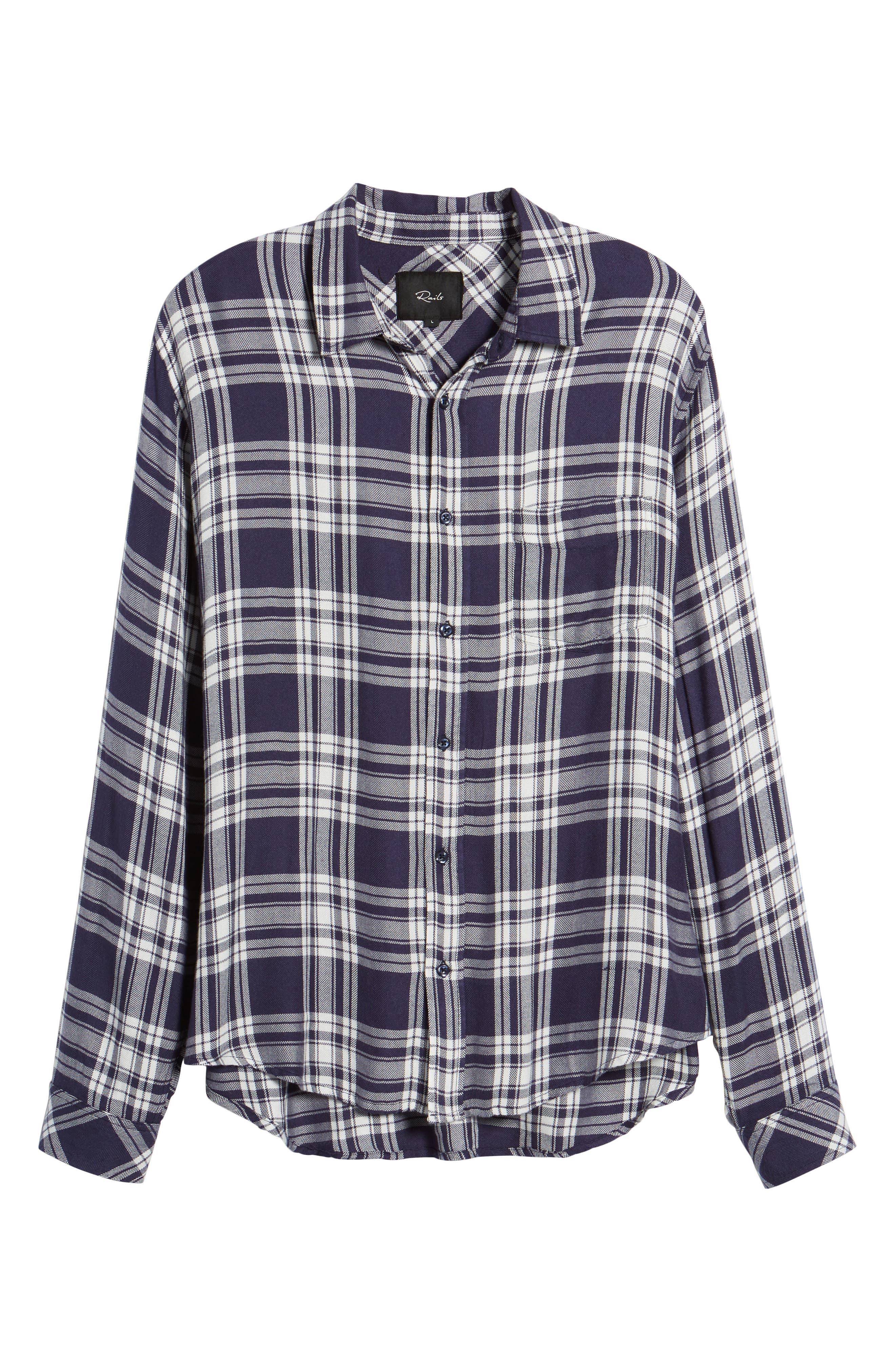 Lennox Slim Fit Plaid Sport Shirt,                             Alternate thumbnail 6, color,