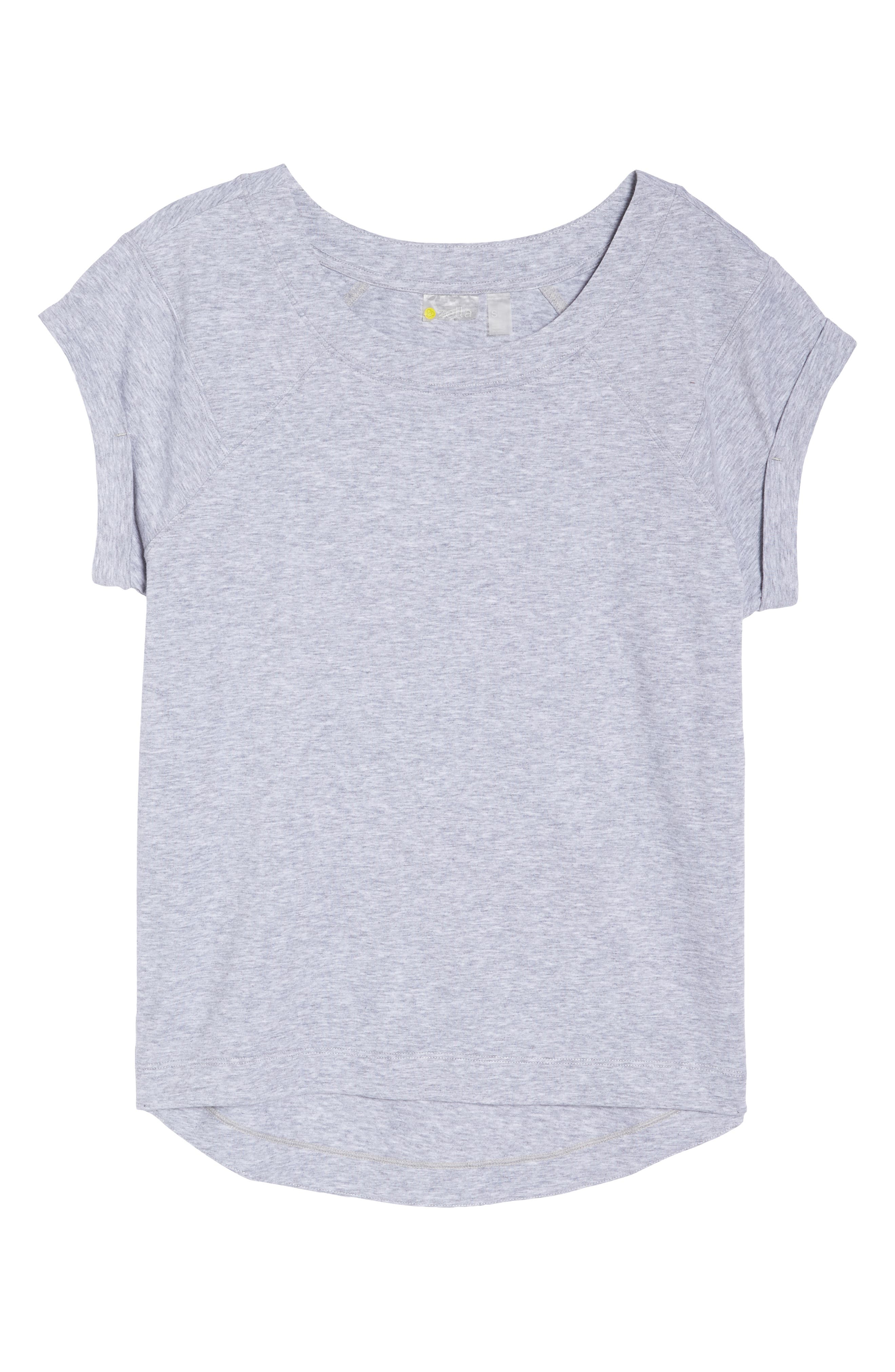 Karly Tee,                             Alternate thumbnail 7, color,                             GREY QUIET HEATHER