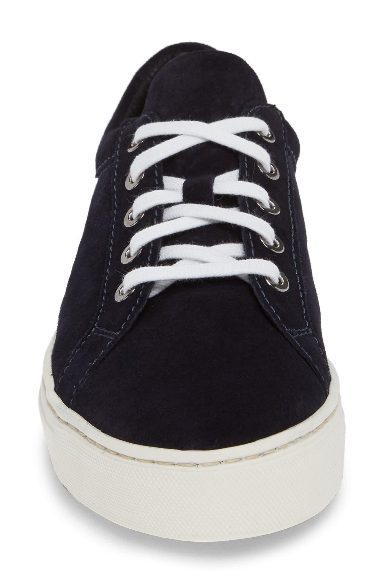 Sneak Away Sneaker,                             Alternate thumbnail 4, color,                             BLUE SUEDE