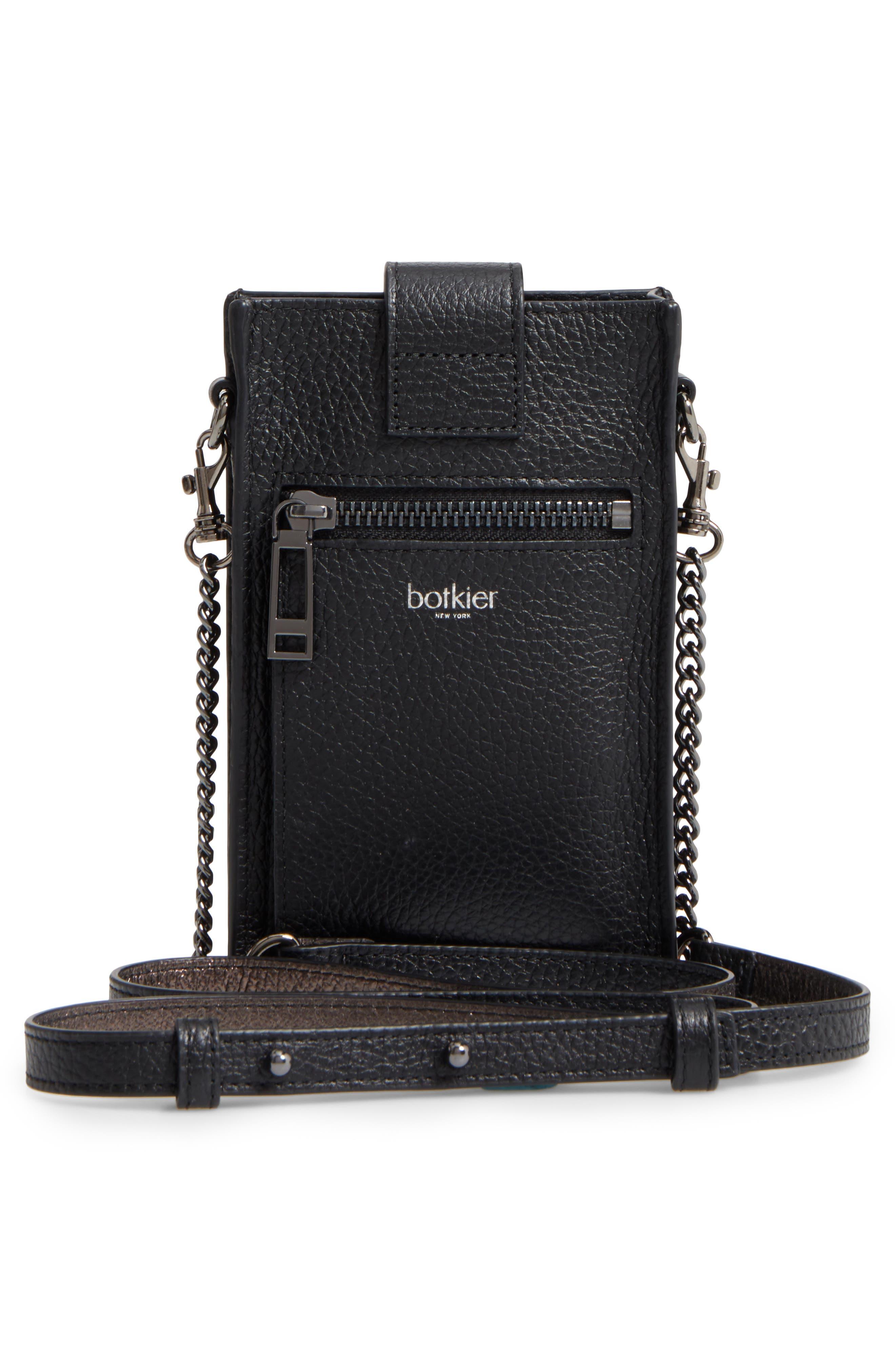 Leather Phone Crossbody Case,                             Alternate thumbnail 3, color,                             001