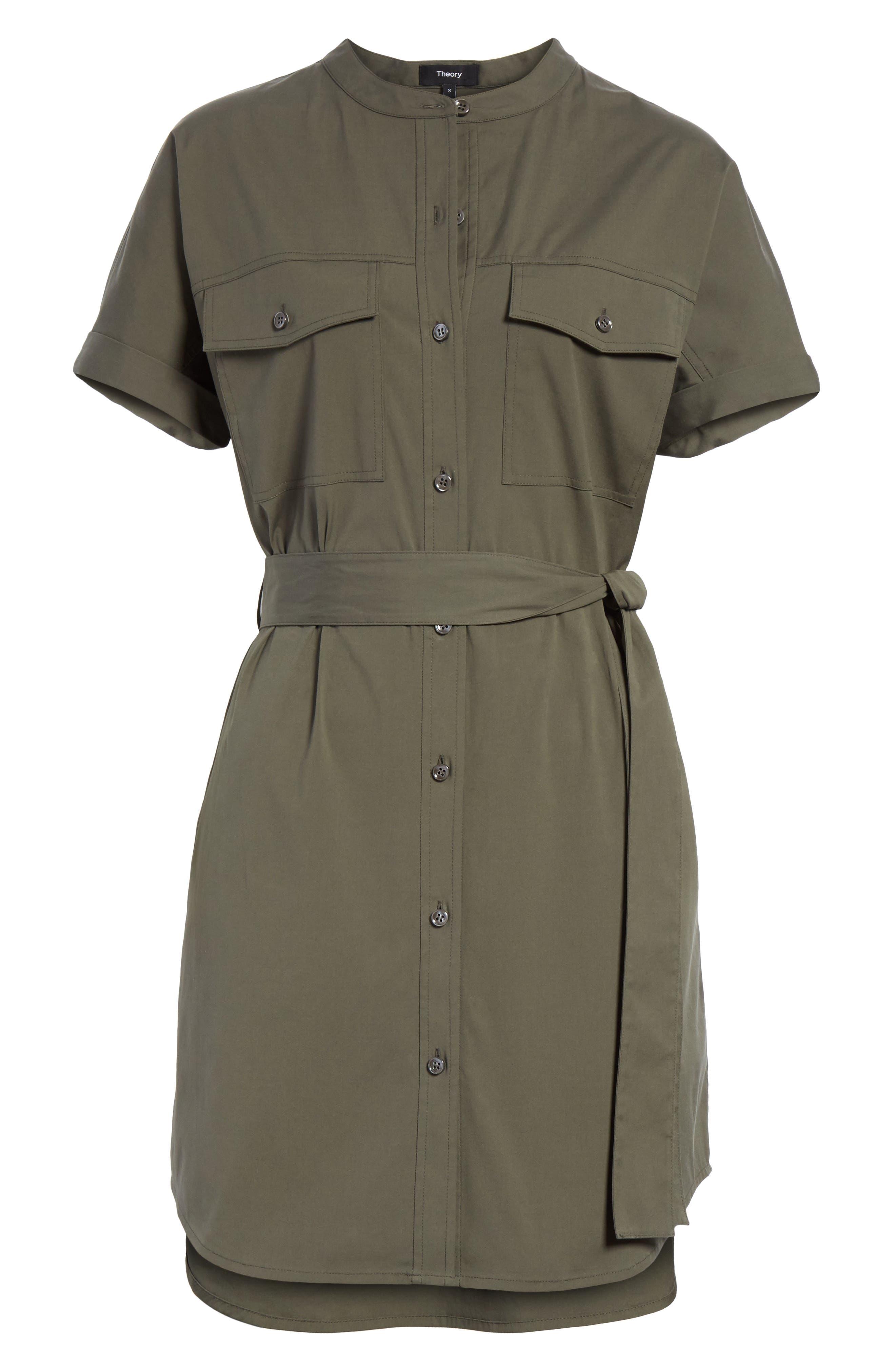 Stretch Cotton Cargo Dress,                             Alternate thumbnail 6, color,                             300