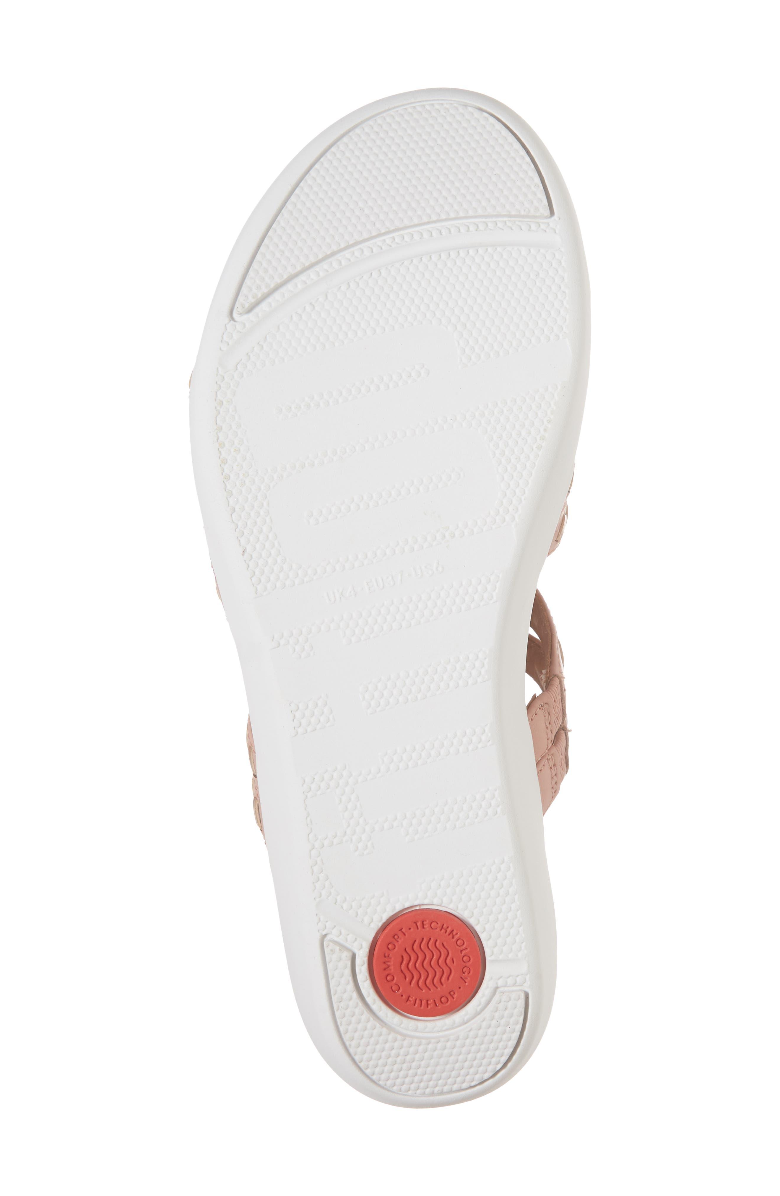 Strata Gladiator Sandal,                             Alternate thumbnail 6, color,                             DUSKY PINK LEATHER