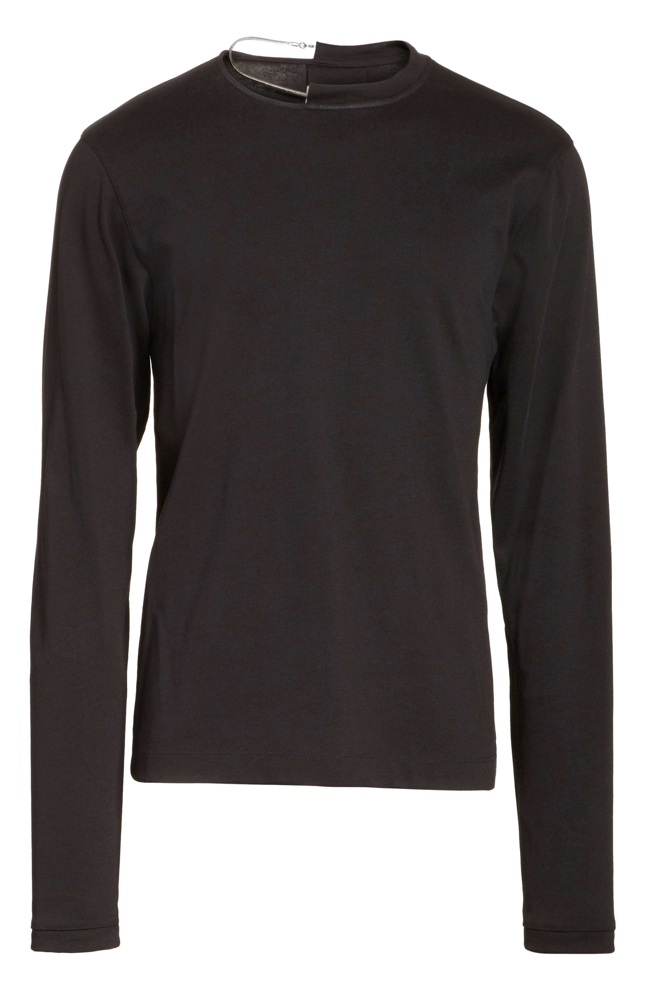 Necklace Crewneck T-Shirt,                             Alternate thumbnail 6, color,                             001