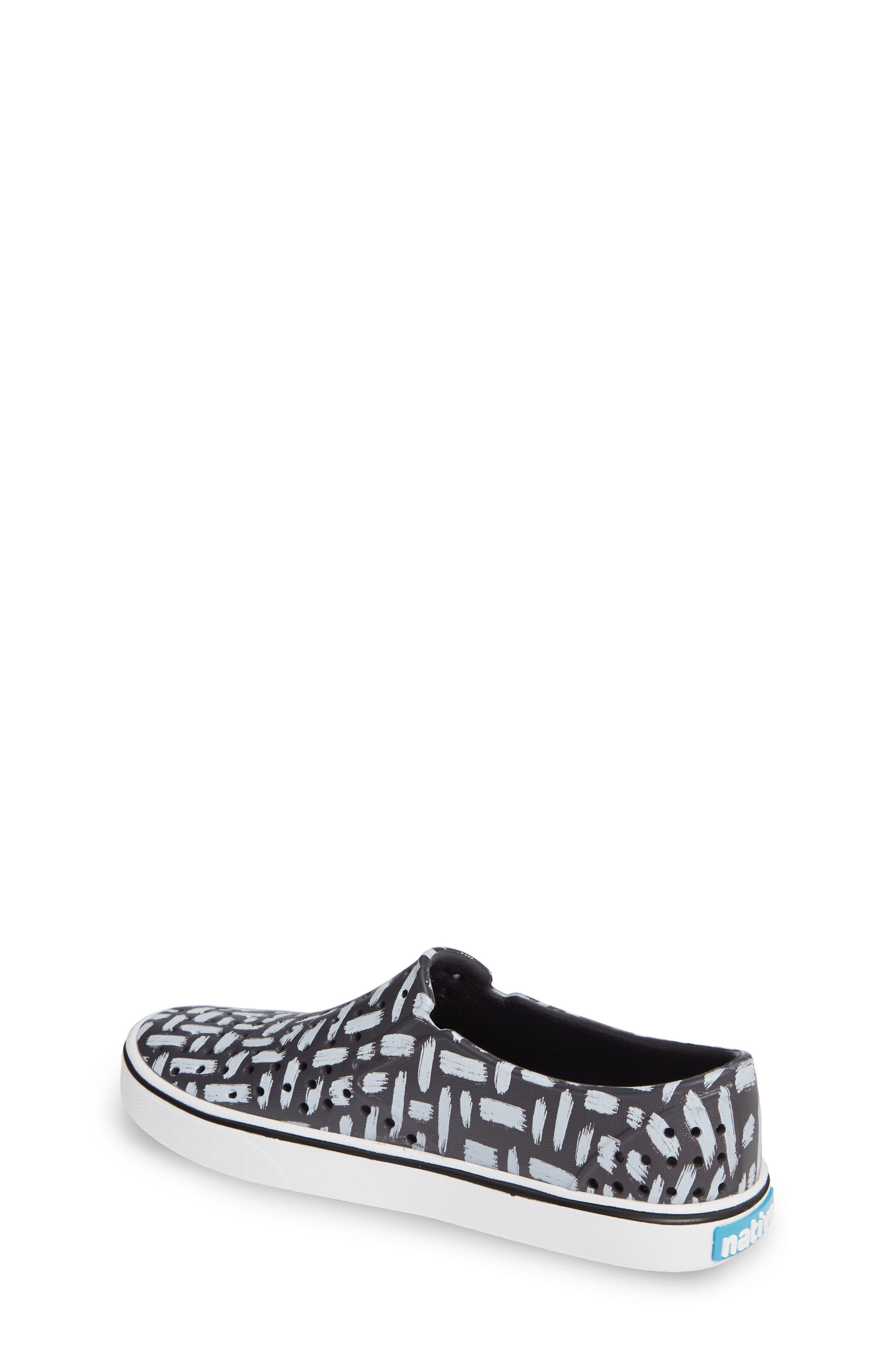 Miles Print Slip-On Sneaker,                             Alternate thumbnail 2, color,                             ONYX/ SHELL WHITE/ INKWELL