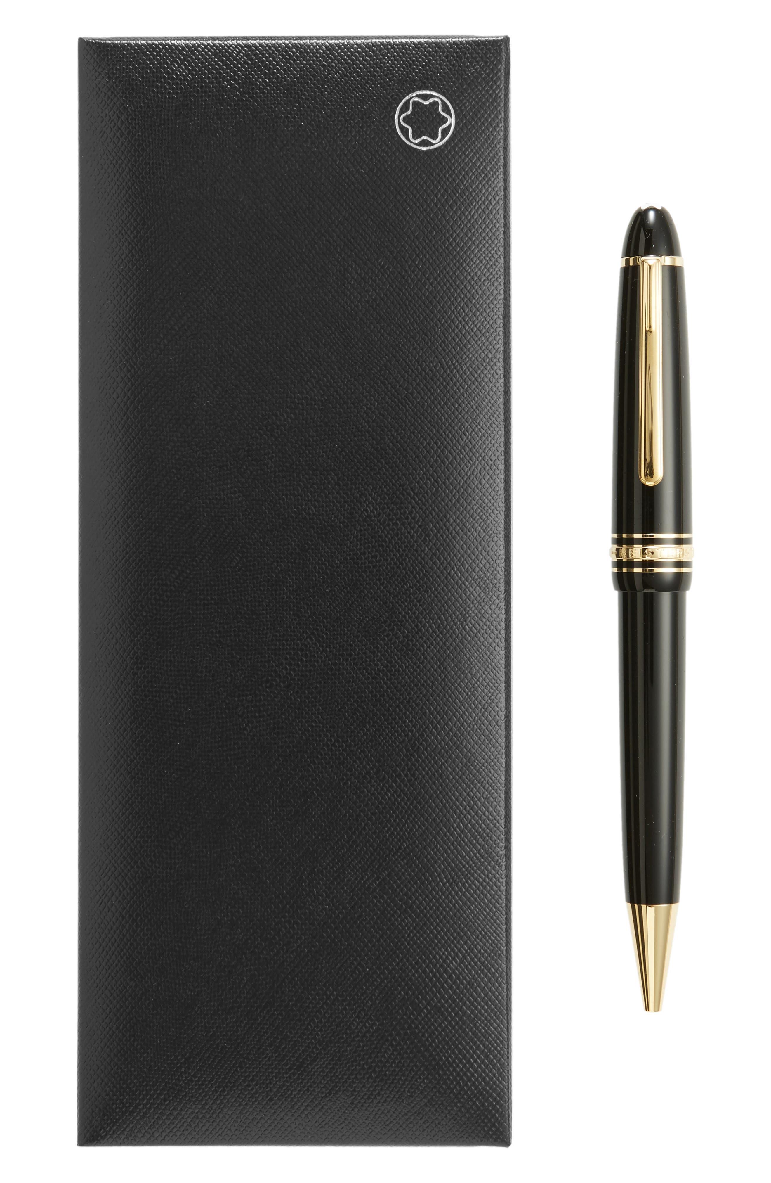 Meisterstück Gold Coated LeGrand Ballpoint Pen,                             Alternate thumbnail 2, color,                             BLACK