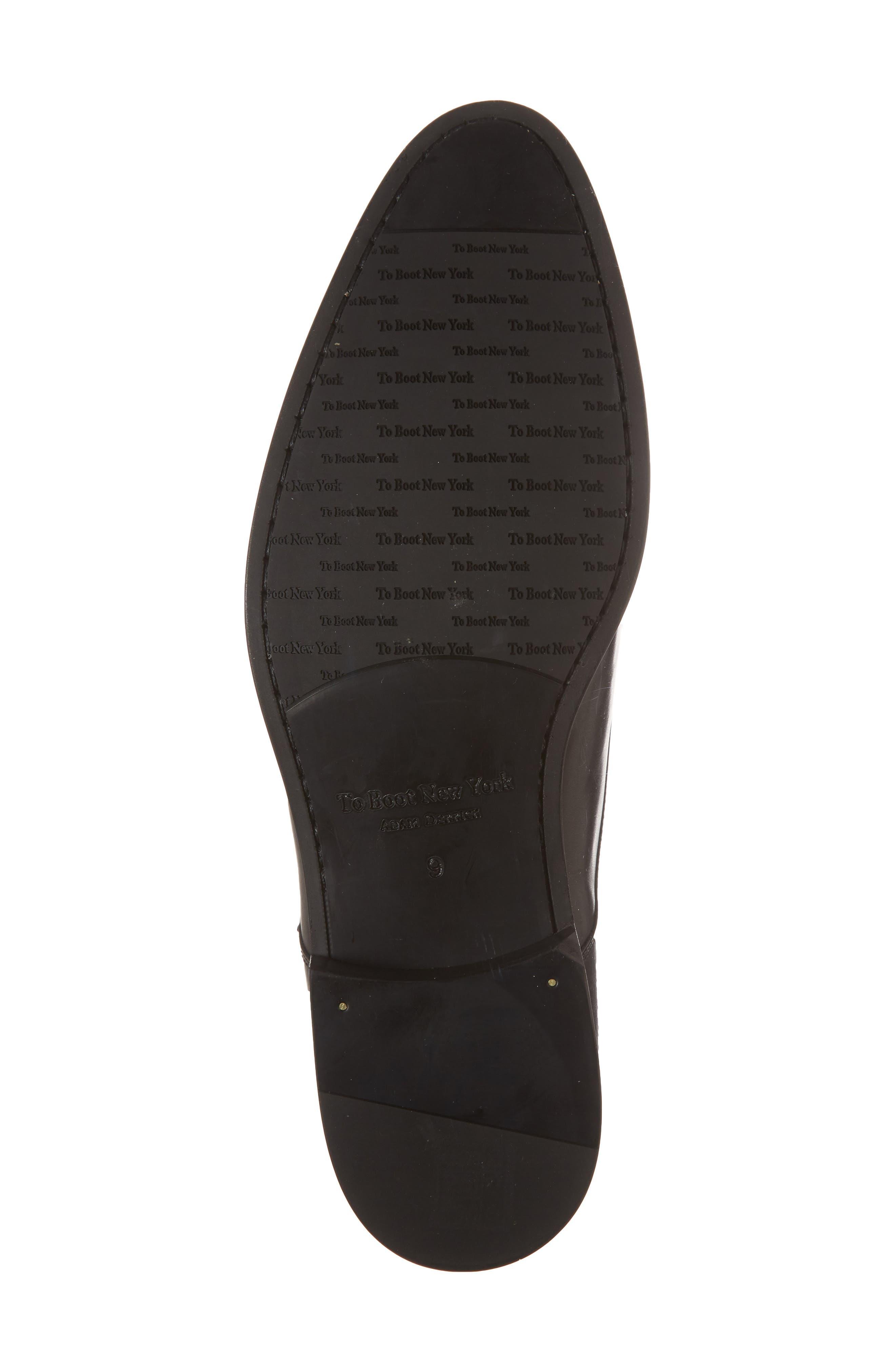 Bankston Cap Toe Double Strap Monk Shoe,                             Alternate thumbnail 6, color,                             BLACK LEATHER