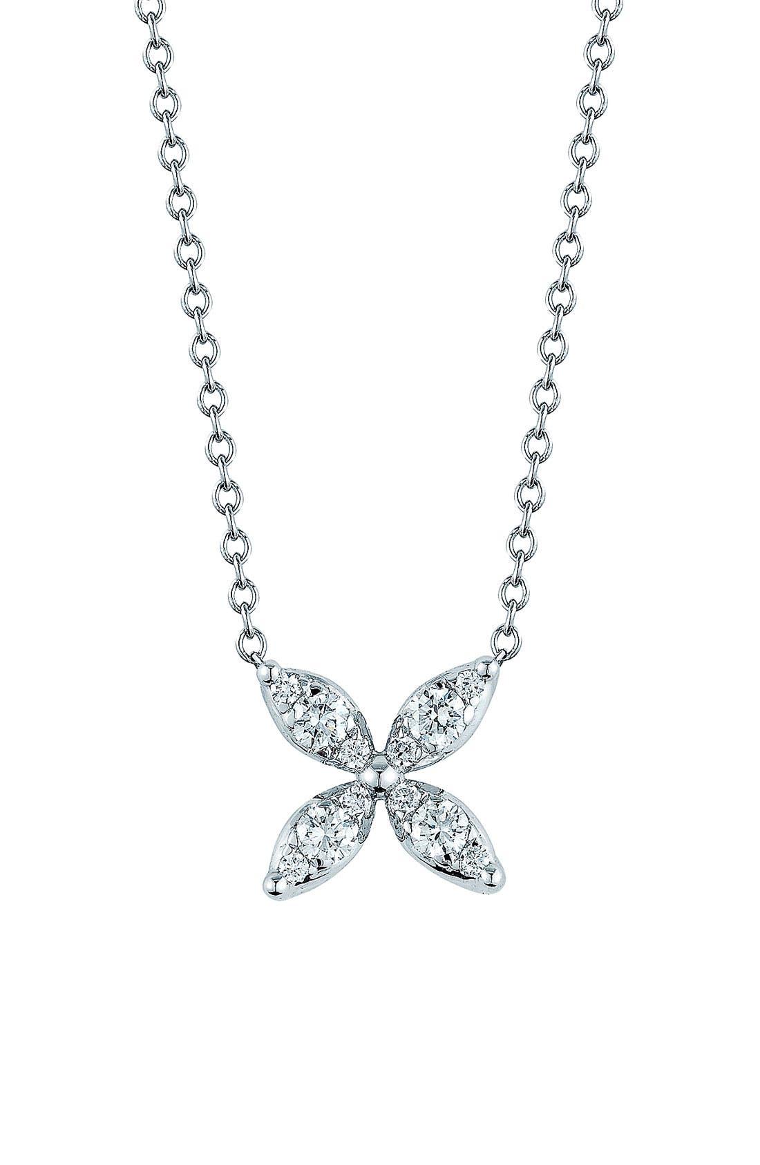 'Sunburst' Diamond Pendant Necklace,                         Main,                         color, 710