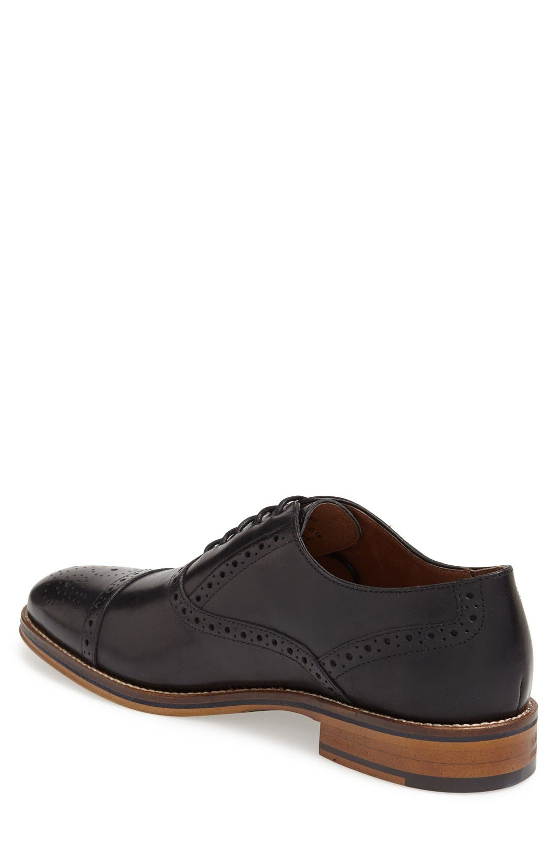 Conard Cap Toe Oxford,                             Alternate thumbnail 2, color,                             BLACK