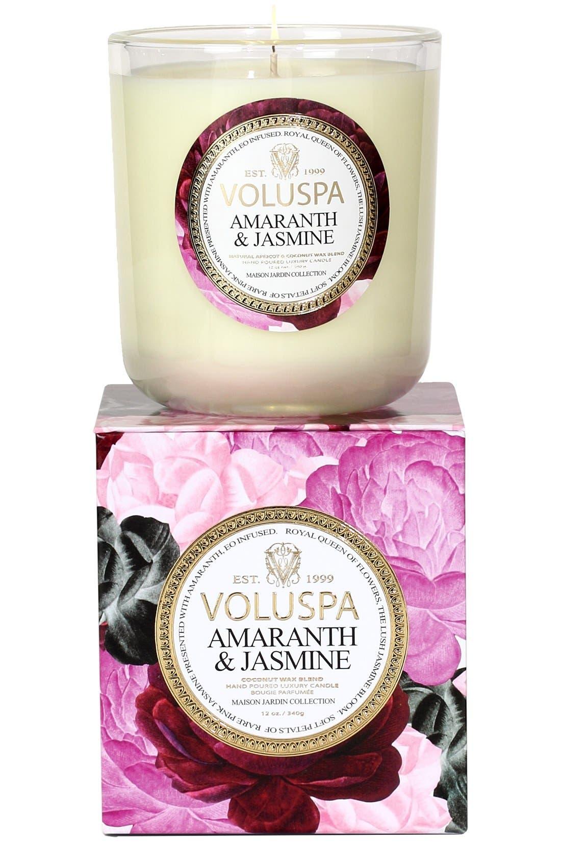 Maison Jardin Amaranth & Jasmine Classic Maison Candle,                             Main thumbnail 1, color,                             000