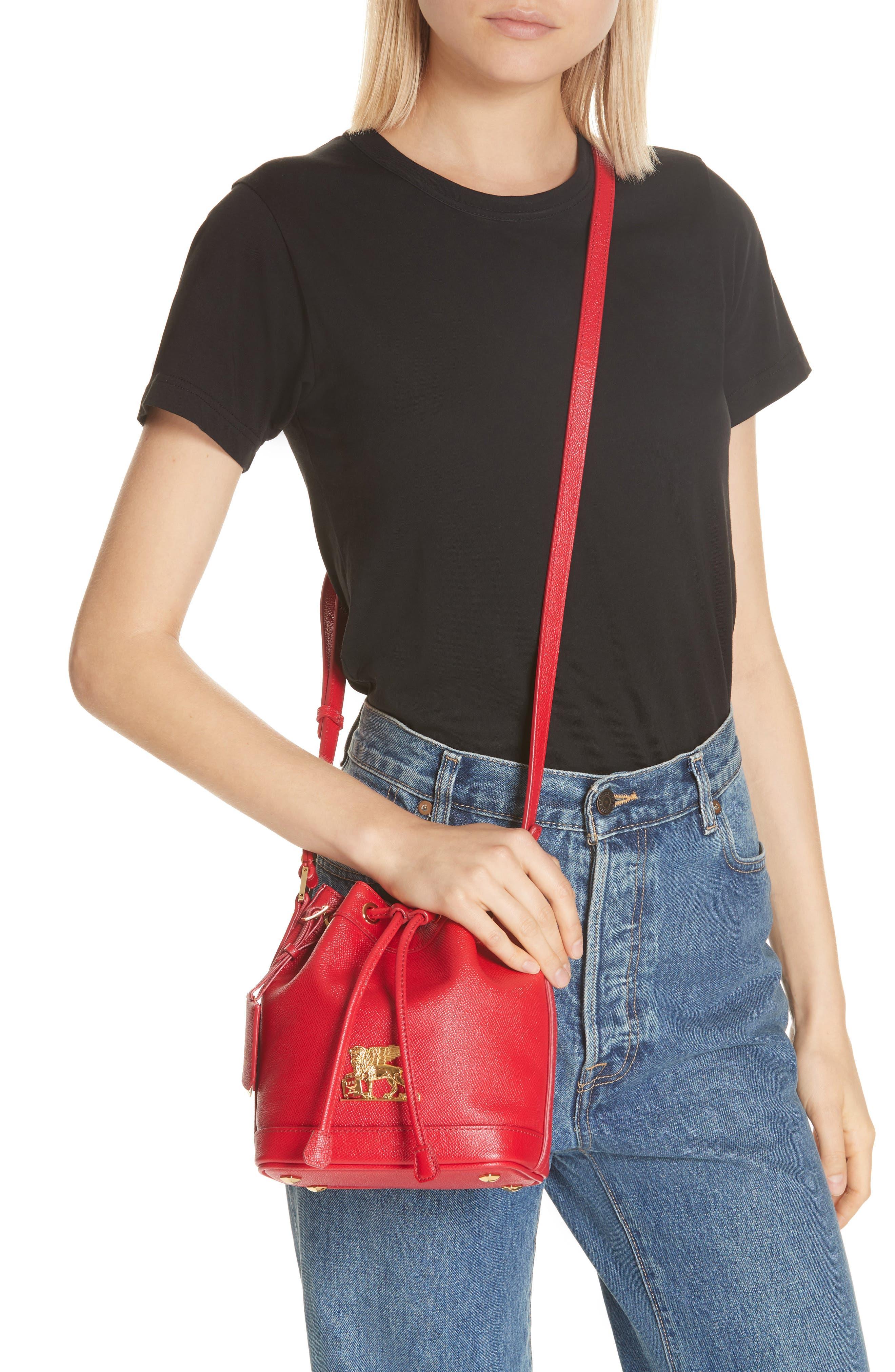 Mini RGB Drawstring Crossbody Bag,                             Alternate thumbnail 2, color,                             RED