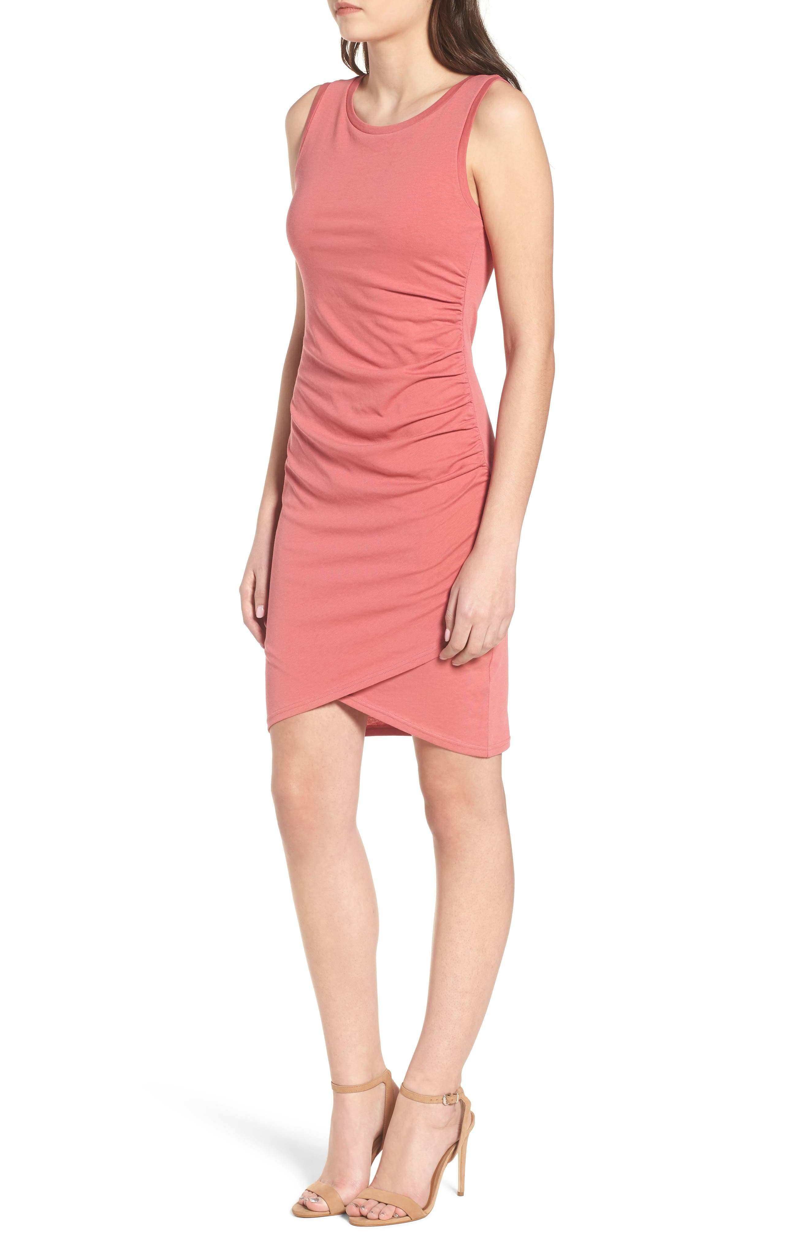 Ruched Body-Con Tank Dress,                             Alternate thumbnail 85, color,