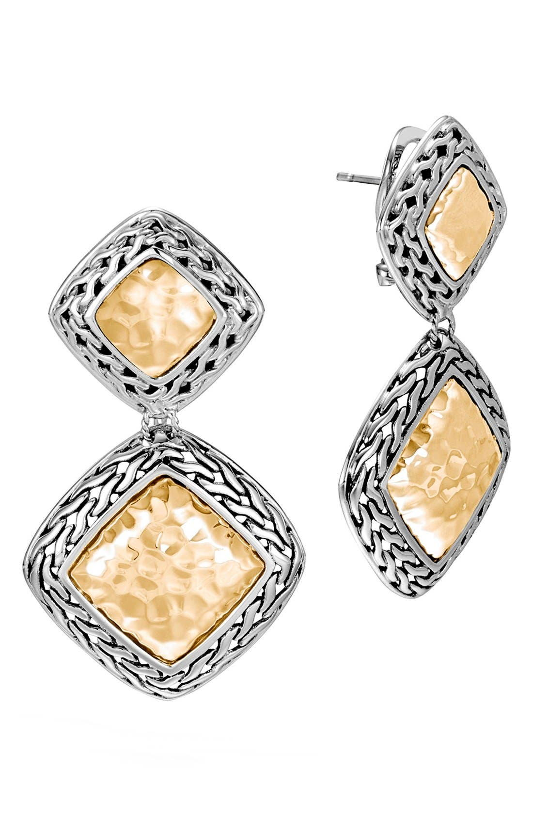 Heritage Drop Earrings,                         Main,                         color, SILVER/ GOLD