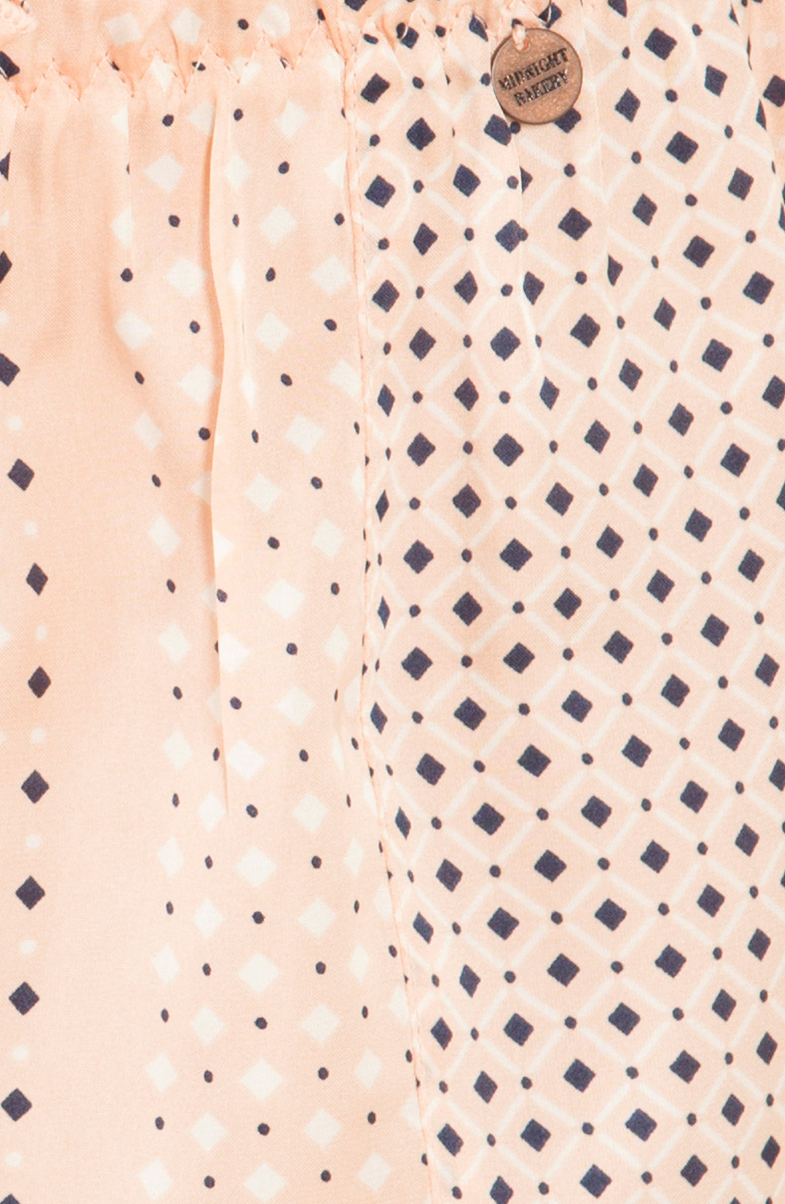 Stripe Pajama Shorts,                             Alternate thumbnail 4, color,                             952