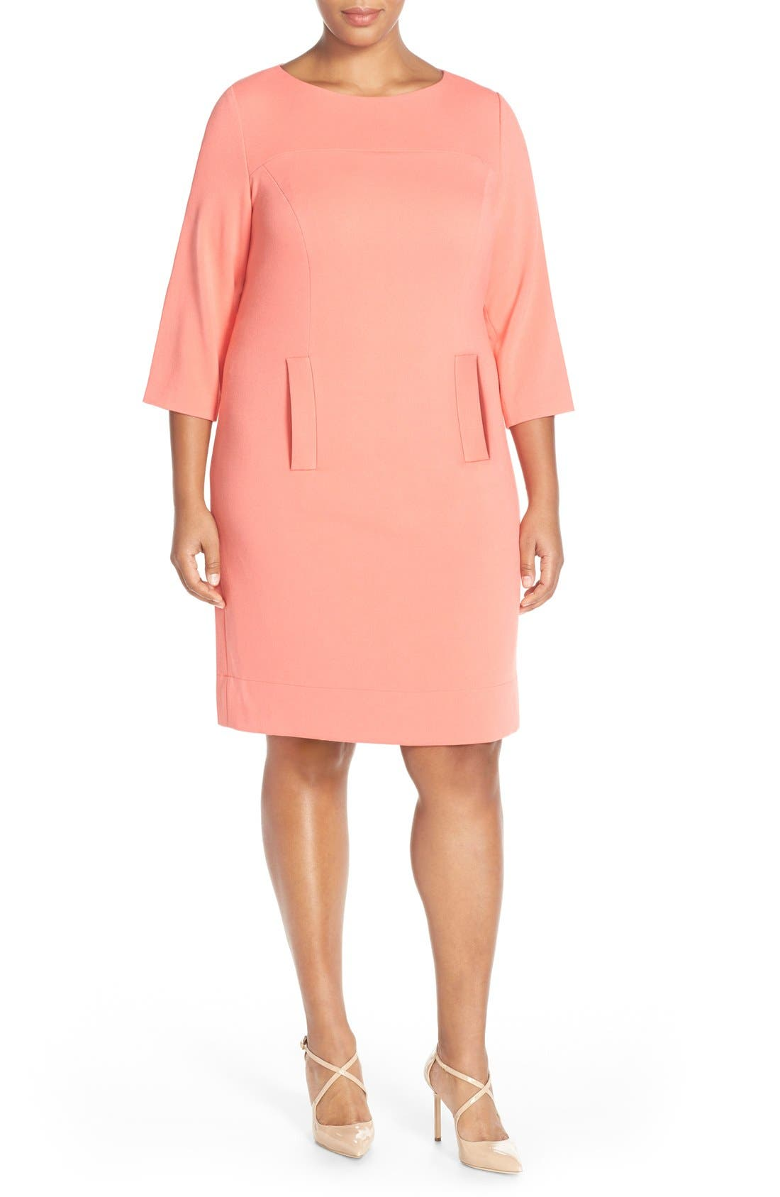 Pocket Detail Shift Dress,                             Alternate thumbnail 24, color,