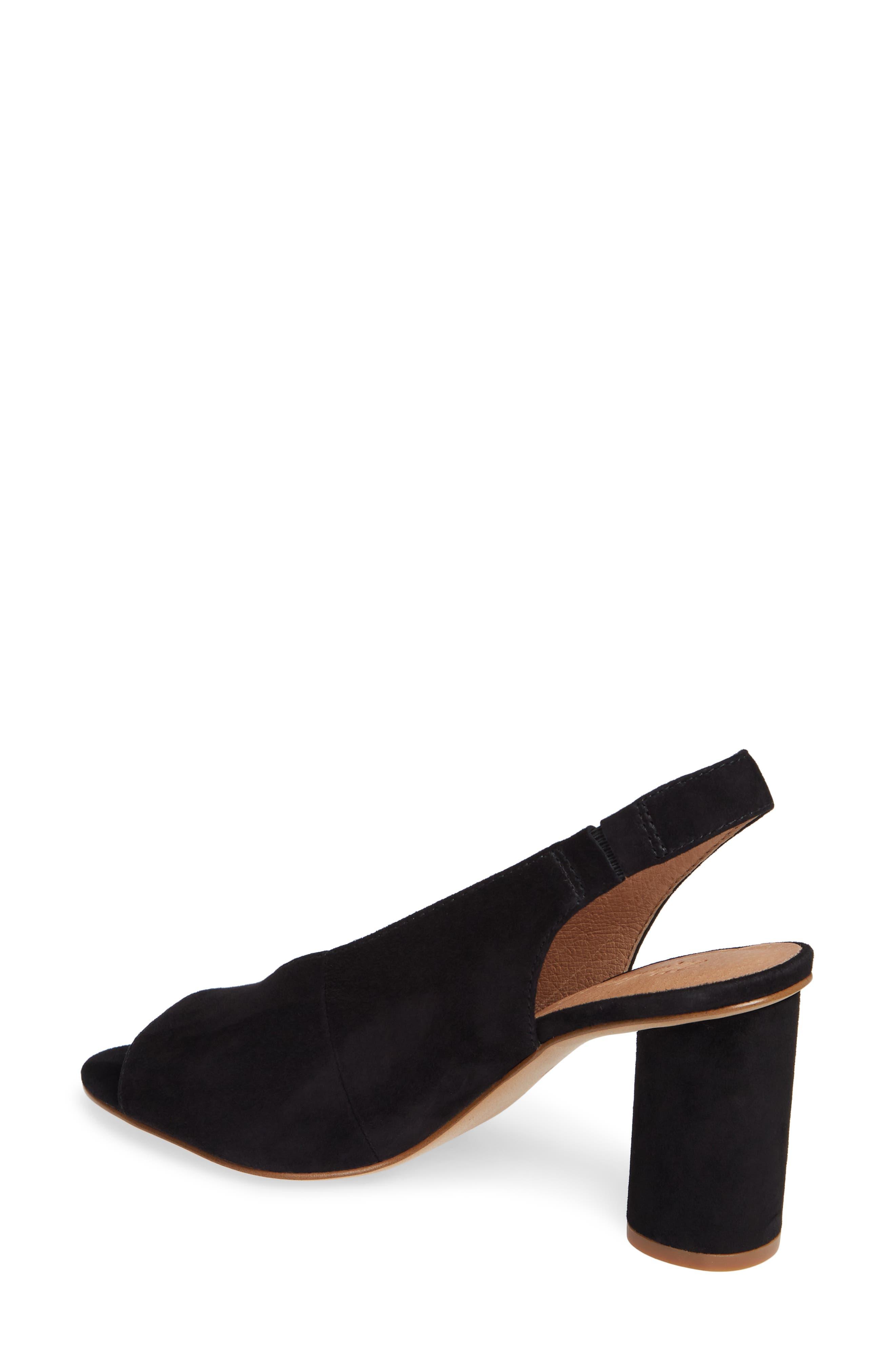 The Alana Slingback Sandal,                             Alternate thumbnail 2, color,                             TRUE BLACK SUEDE