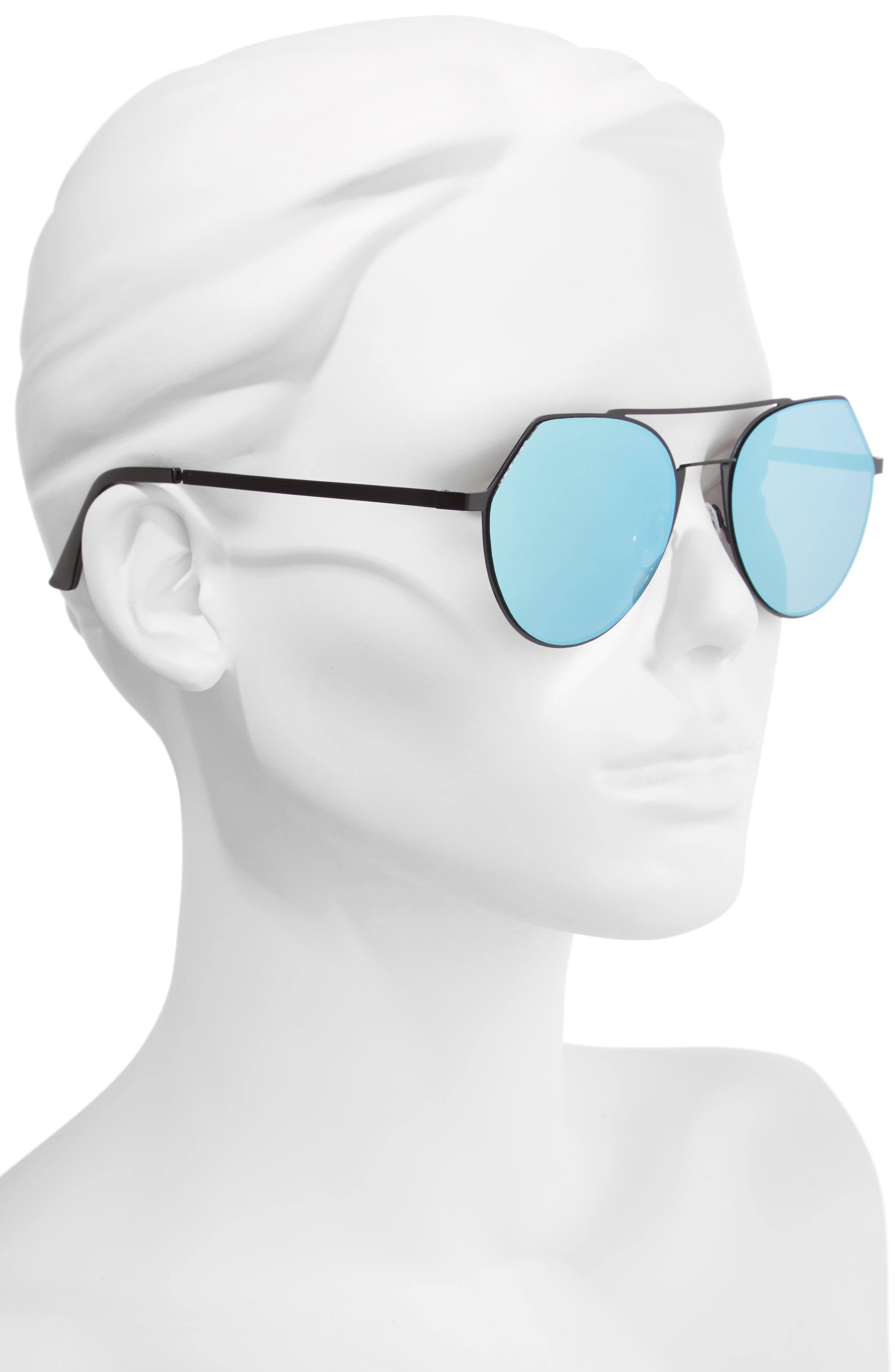 Mirrored Aviator Sunglasses,                             Alternate thumbnail 2, color,                             001