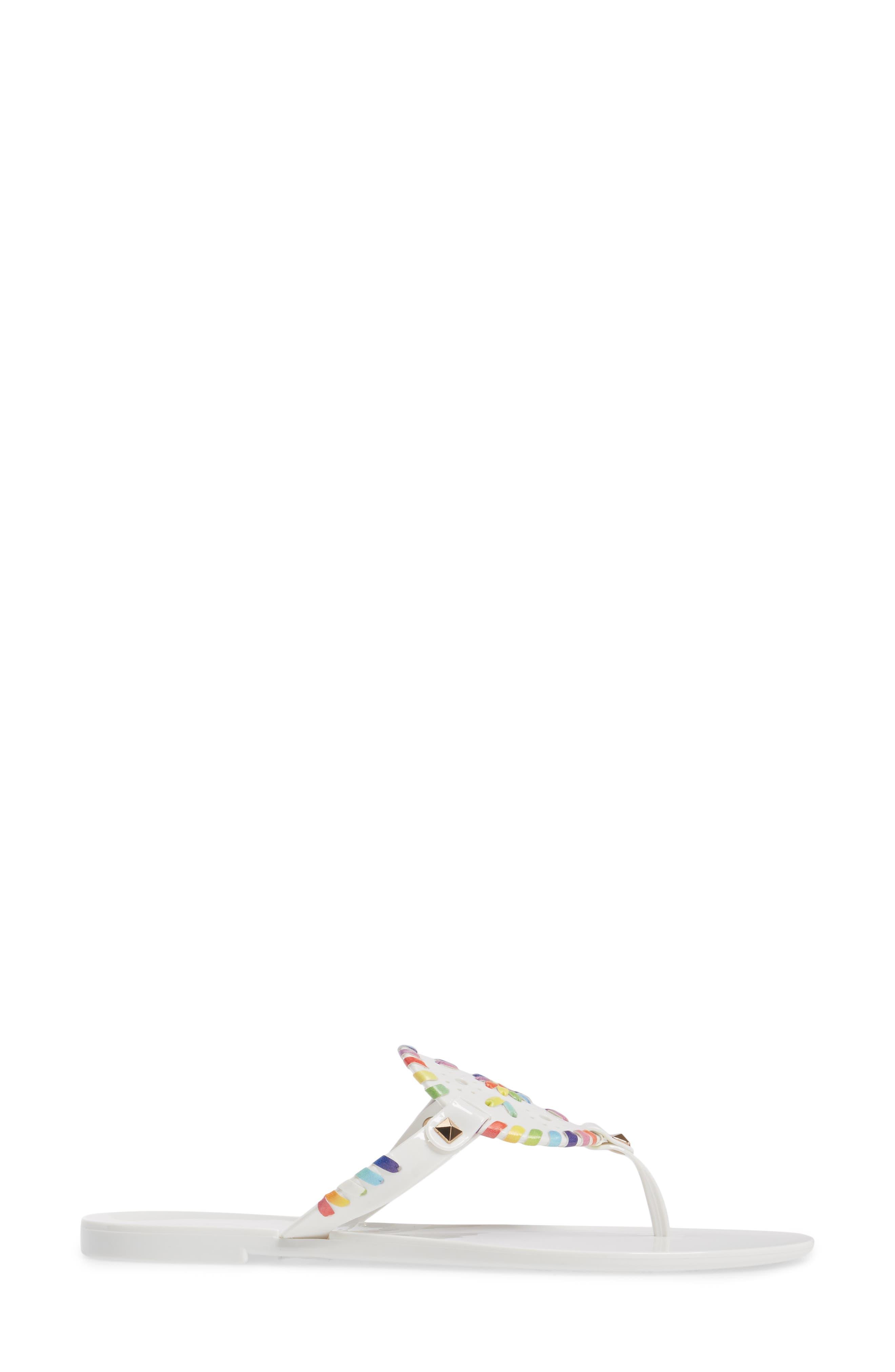'Georgica' Jelly Flip Flop,                             Alternate thumbnail 105, color,