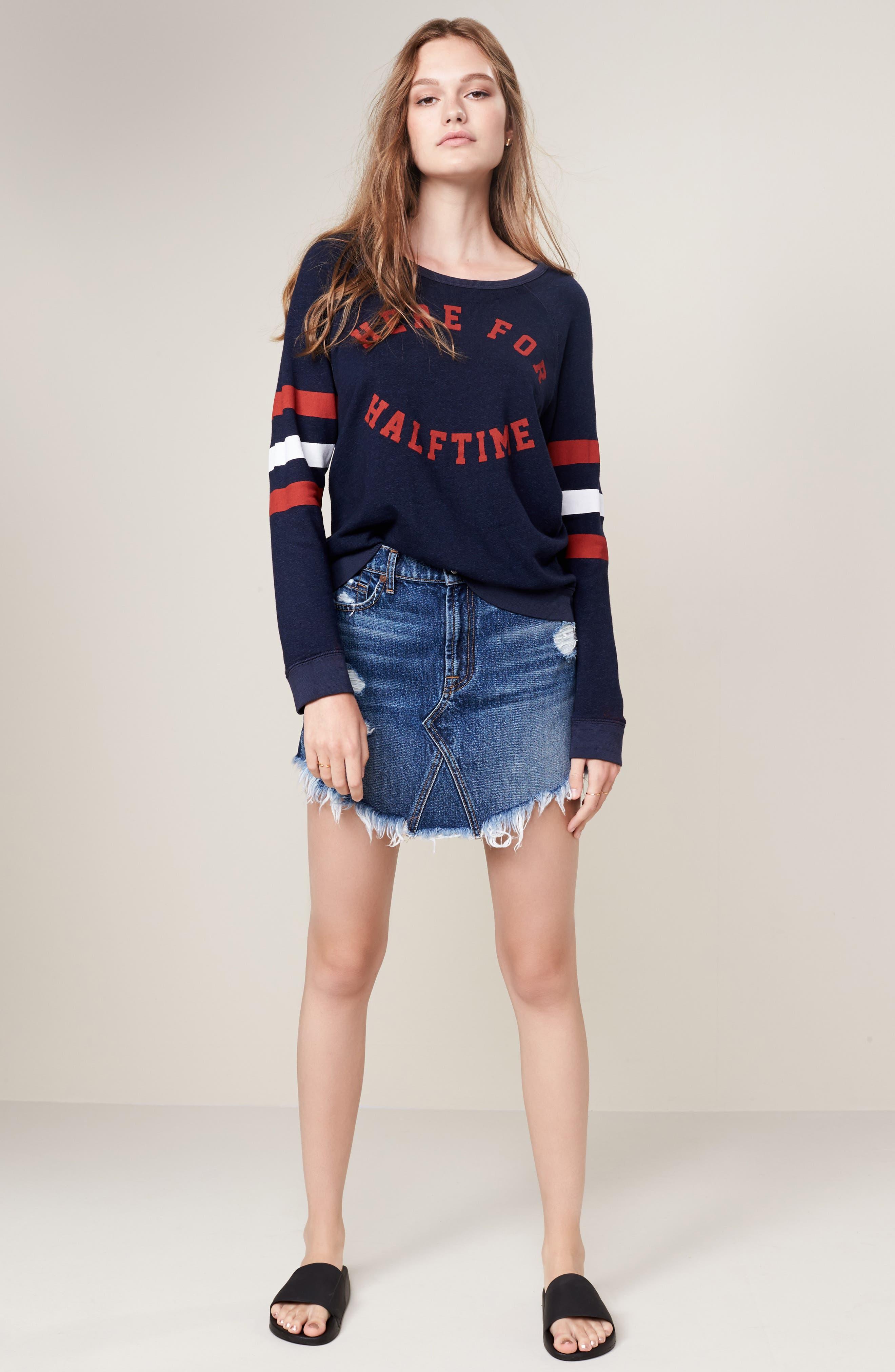 Denim Miniskirt,                             Alternate thumbnail 7, color,                             400
