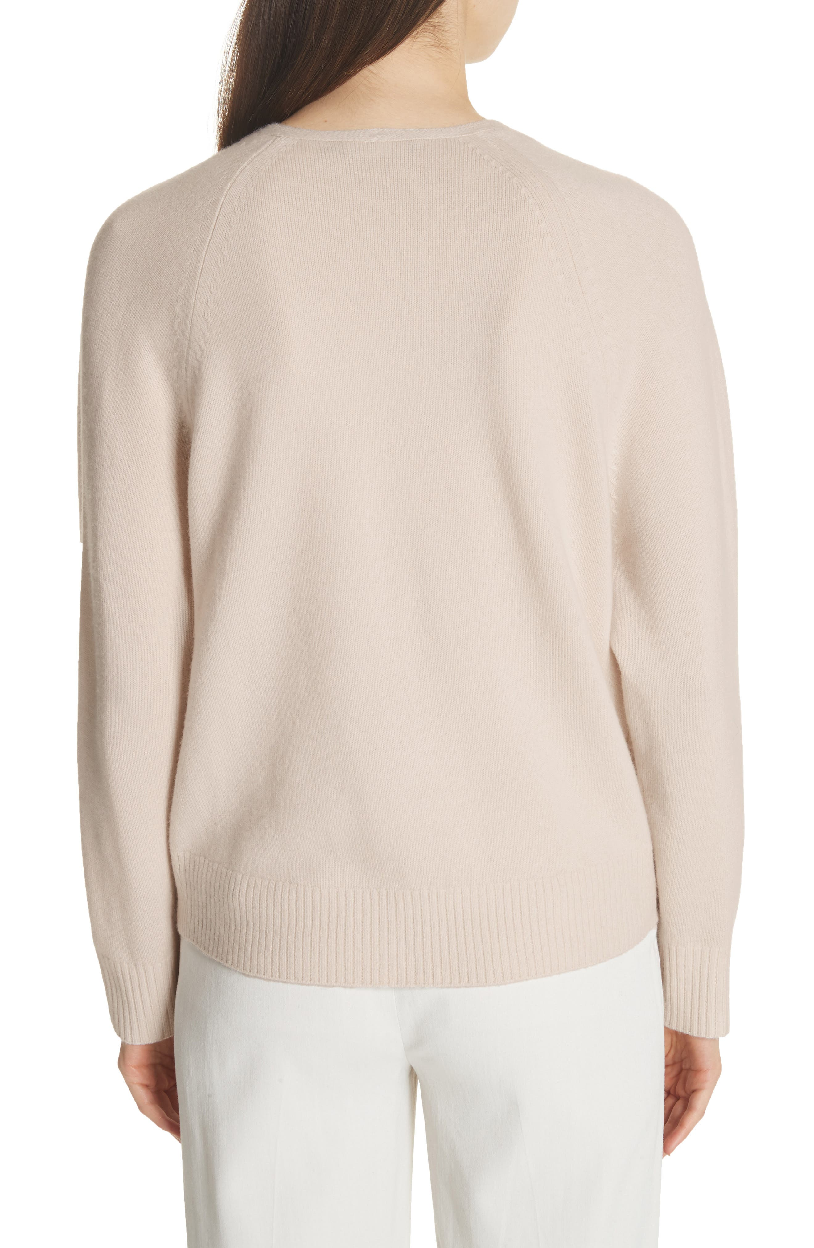 Cashmere Raglan Sleeve Sweater,                             Alternate thumbnail 2, color,                             SANDSTONE