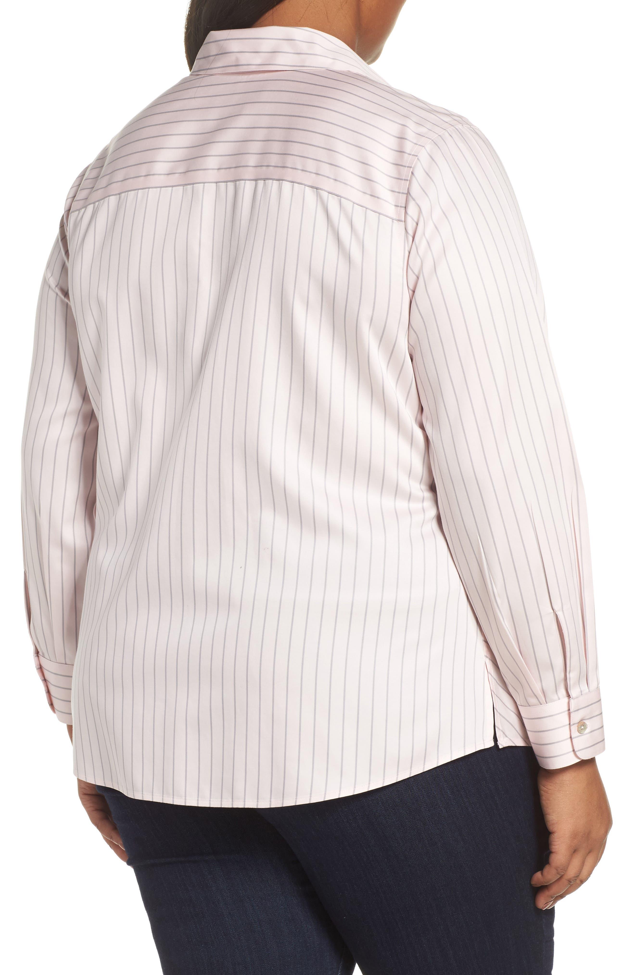 Monica Classic Stripe Shirt,                             Alternate thumbnail 2, color,                             BLUSH