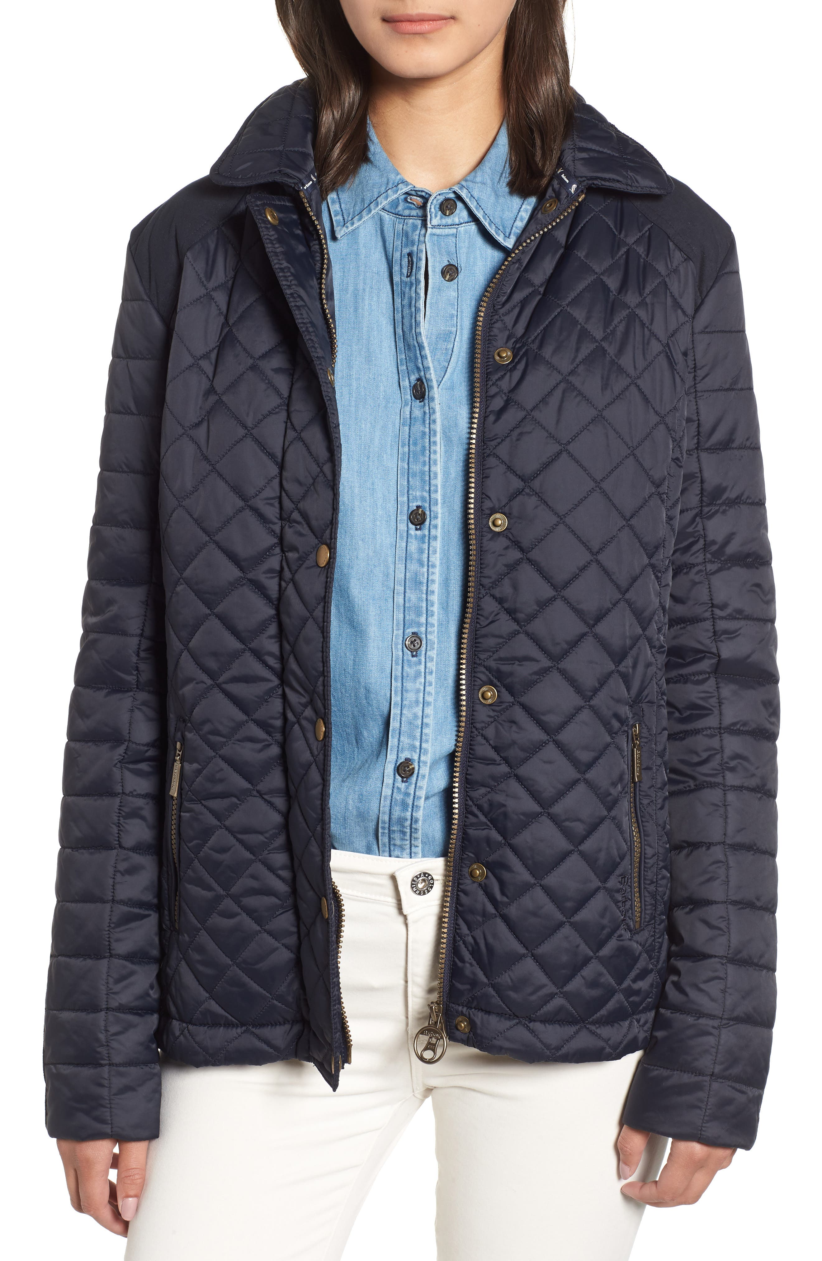 Barbour Quail Quilted Jacket, US / 8 UK - Blue