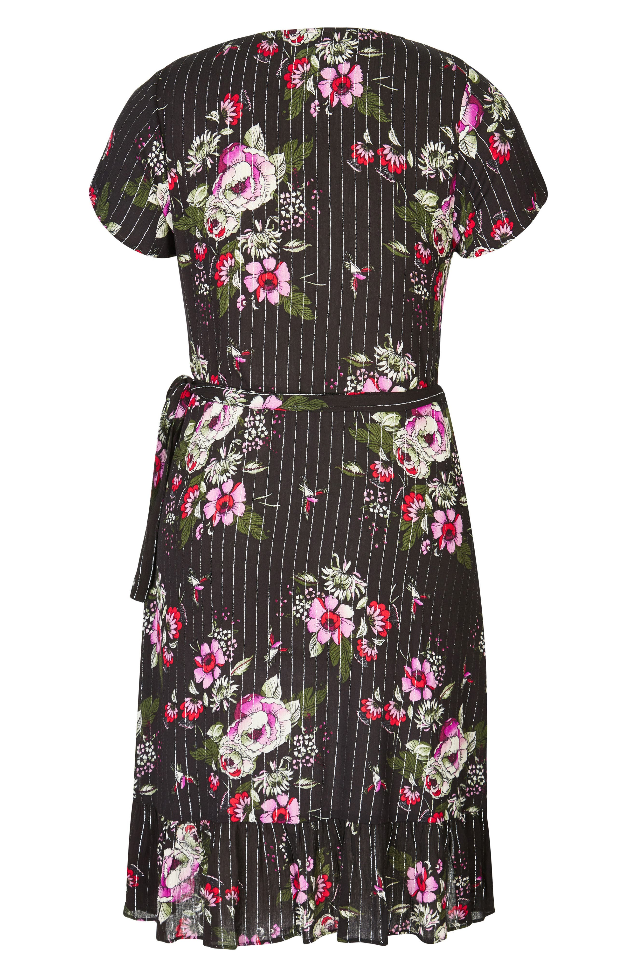 Lolita Wrap Dress,                             Alternate thumbnail 3, color,                             003