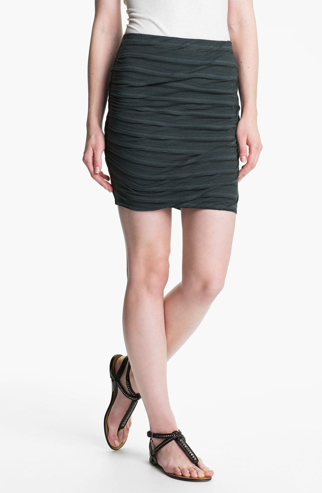 Shadow Stripe Ruched Miniskirt,                             Main thumbnail 2, color,