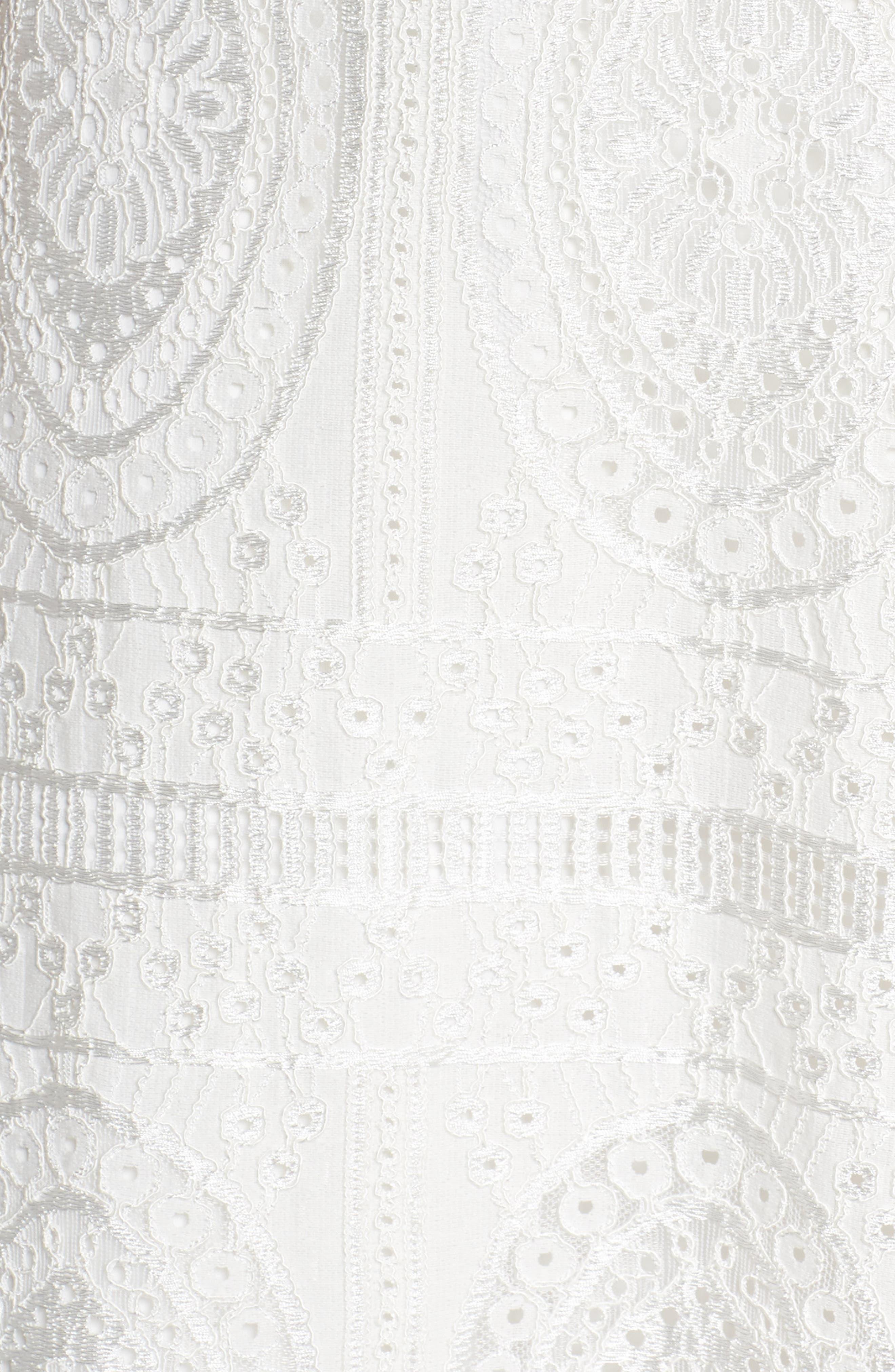 Lace Off the Shoulder Maxi Dress,                             Alternate thumbnail 5, color,                             900