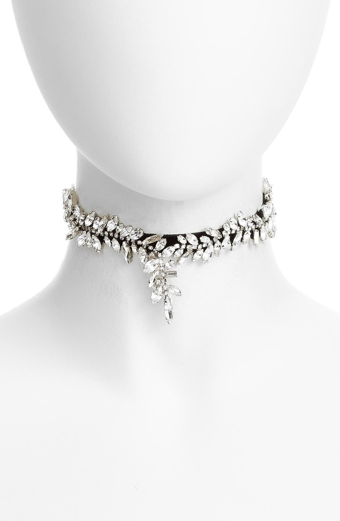 Crystal Choker Necklace,                         Main,                         color, 001
