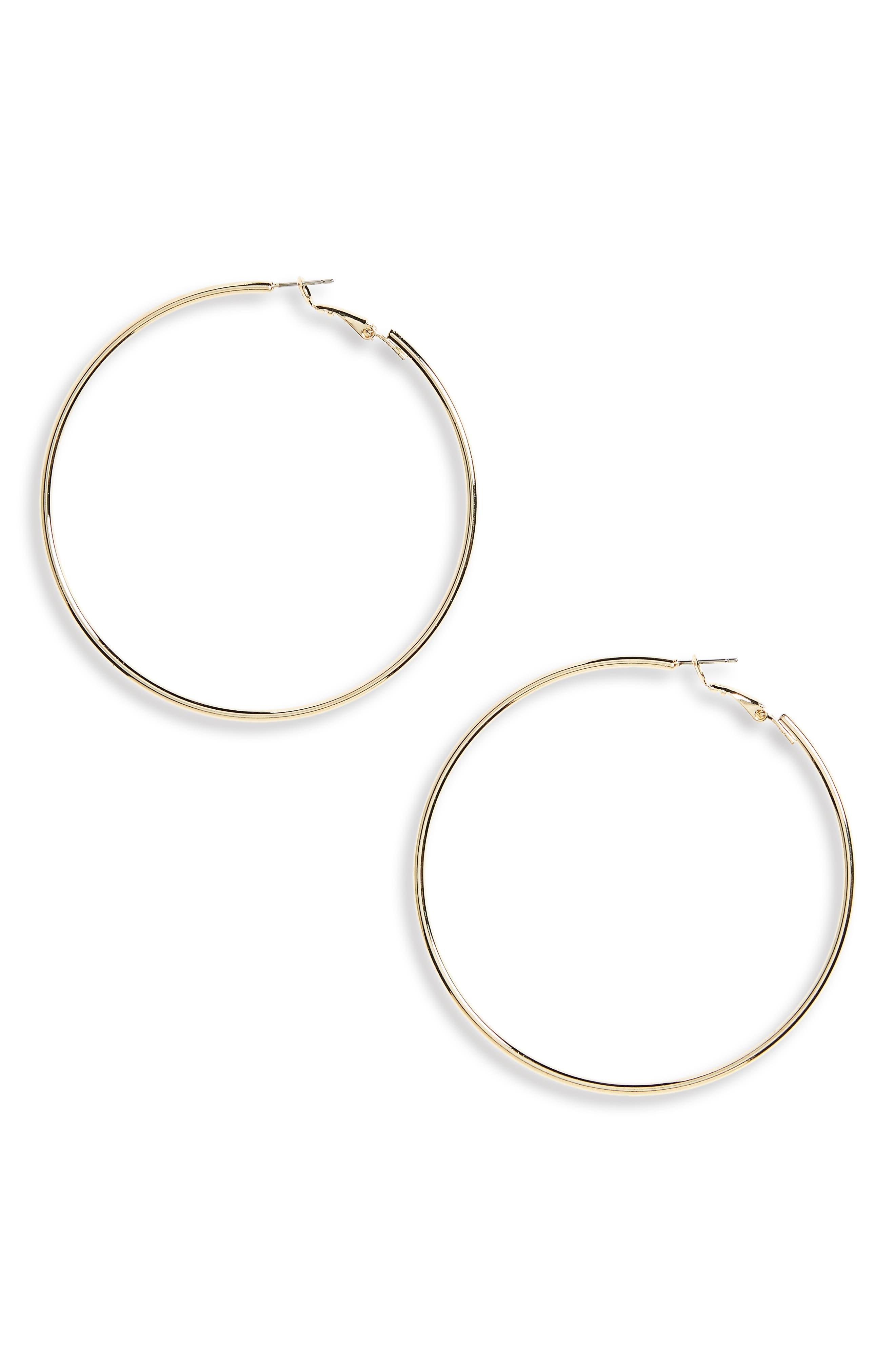 Gold Hoop Earrings,                             Main thumbnail 1, color,                             GOLD