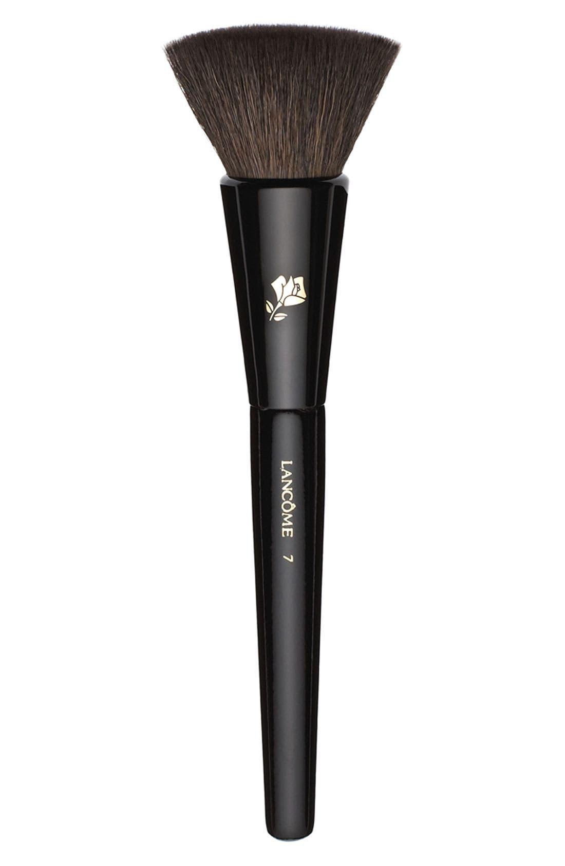 Natural and Flat-Bristled Blush Brush,                             Main thumbnail 1, color,