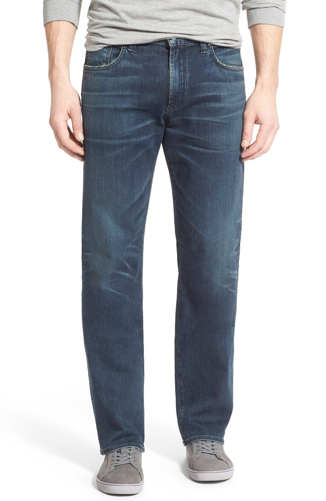 PERFORM - Sid Straight Leg Jeans,                             Main thumbnail 1, color,                             NORLAND