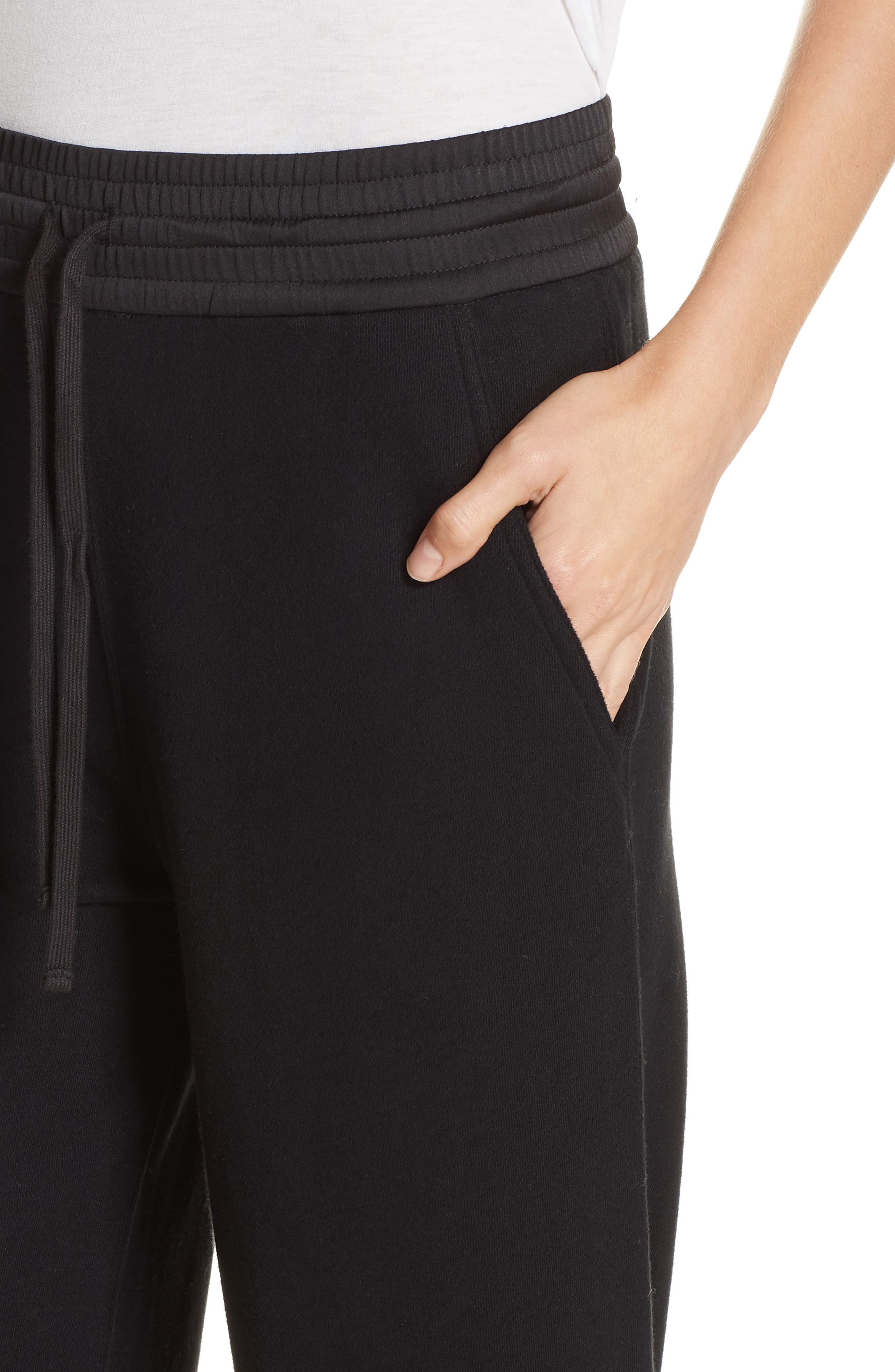 Cotton Culottes,                             Alternate thumbnail 4, color,                             BLACK