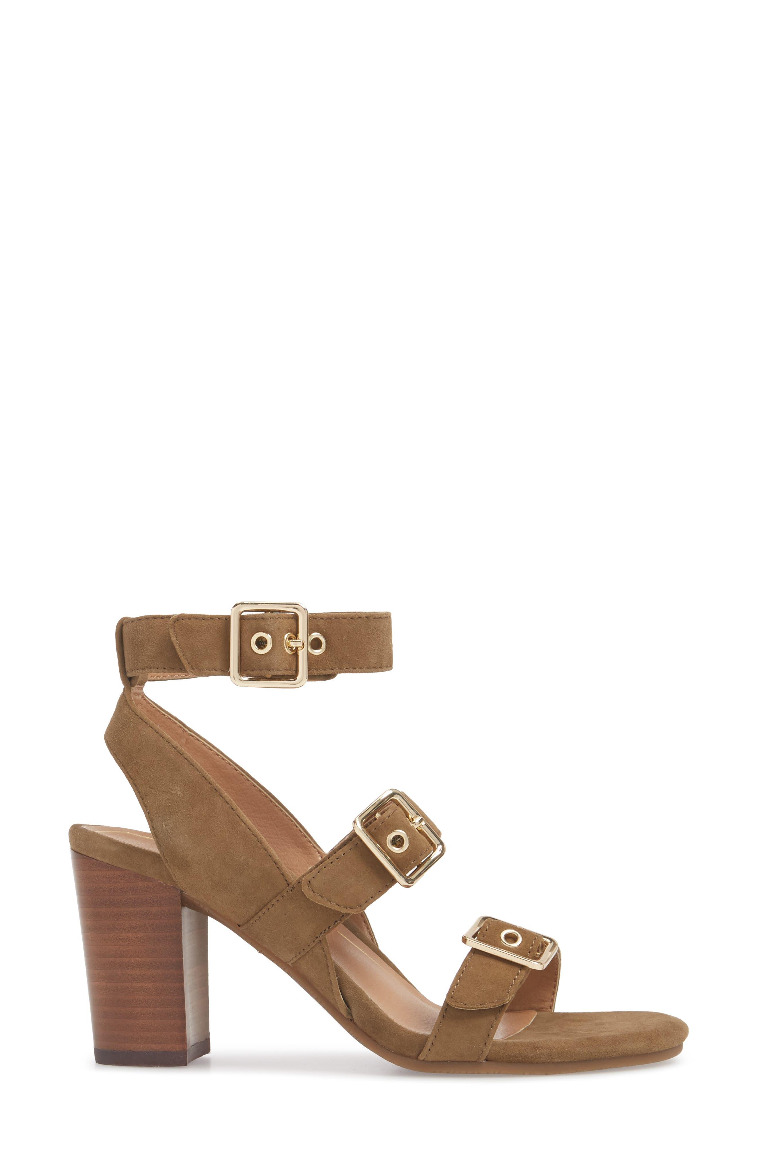 Carmel Block Heel Sandal,                             Alternate thumbnail 3, color,                             310