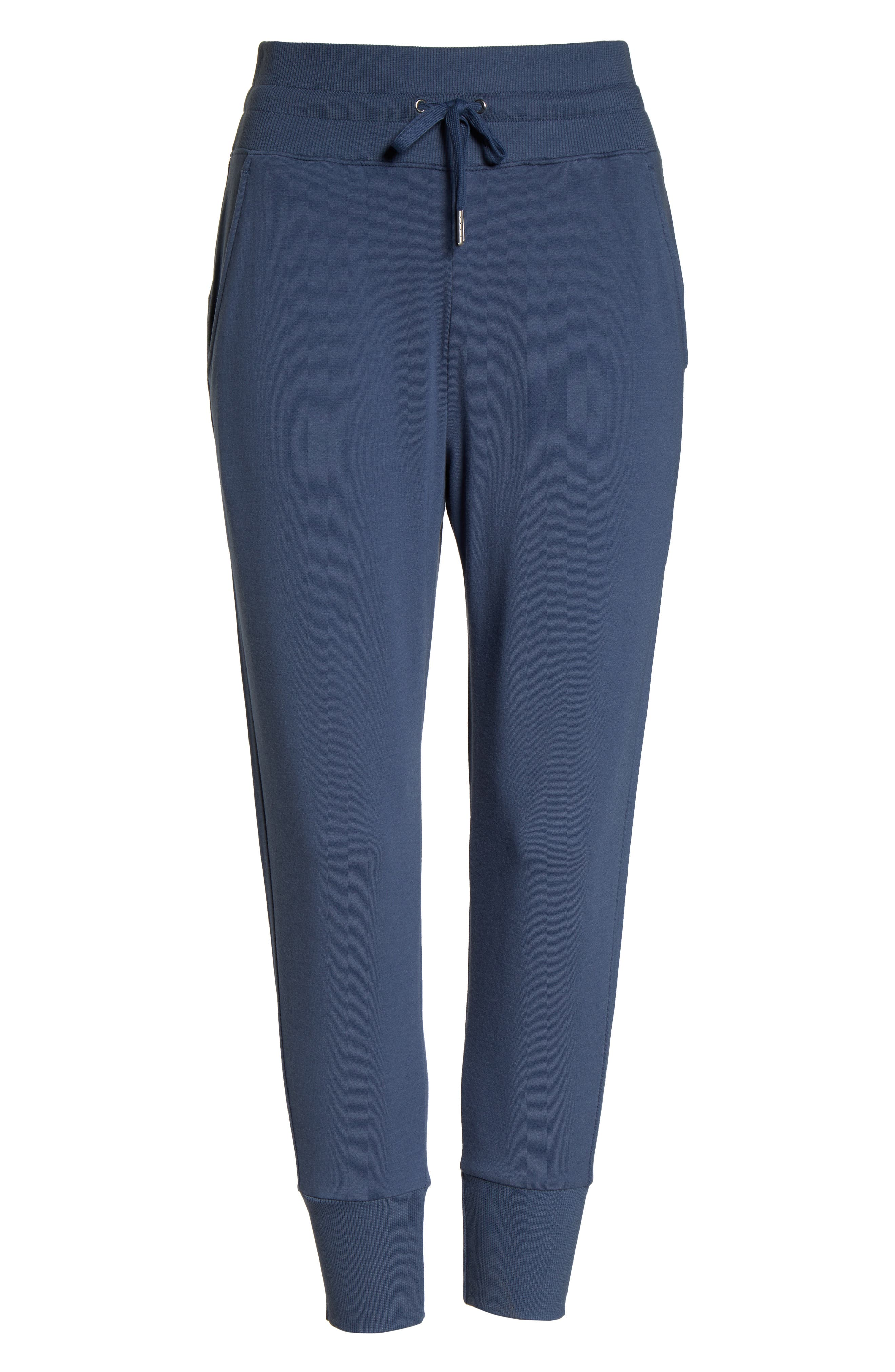 ZELLA, Repeat High Waist Crop Jogger Pants, Alternate thumbnail 7, color, BLUE VINTAGE