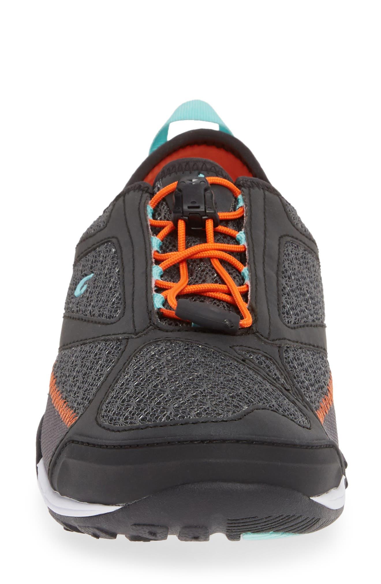 'Eleu' Water-Resistant Sneaker,                             Alternate thumbnail 4, color,                             DARK SHADOW/ LAVA ROCK FABRIC
