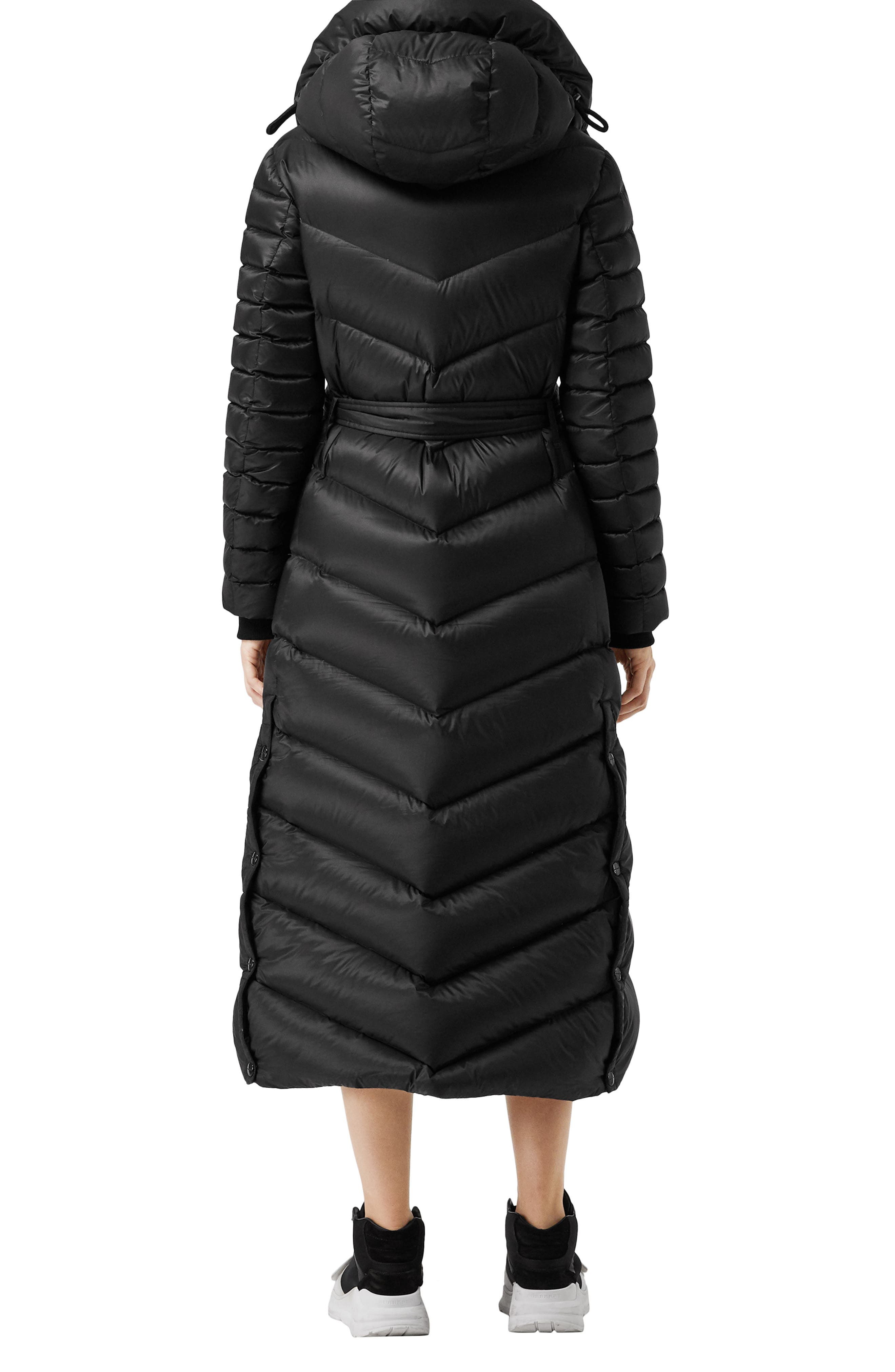 Kington Faux Fur Trim Long Down Coat,                             Alternate thumbnail 2, color,                             BLACK