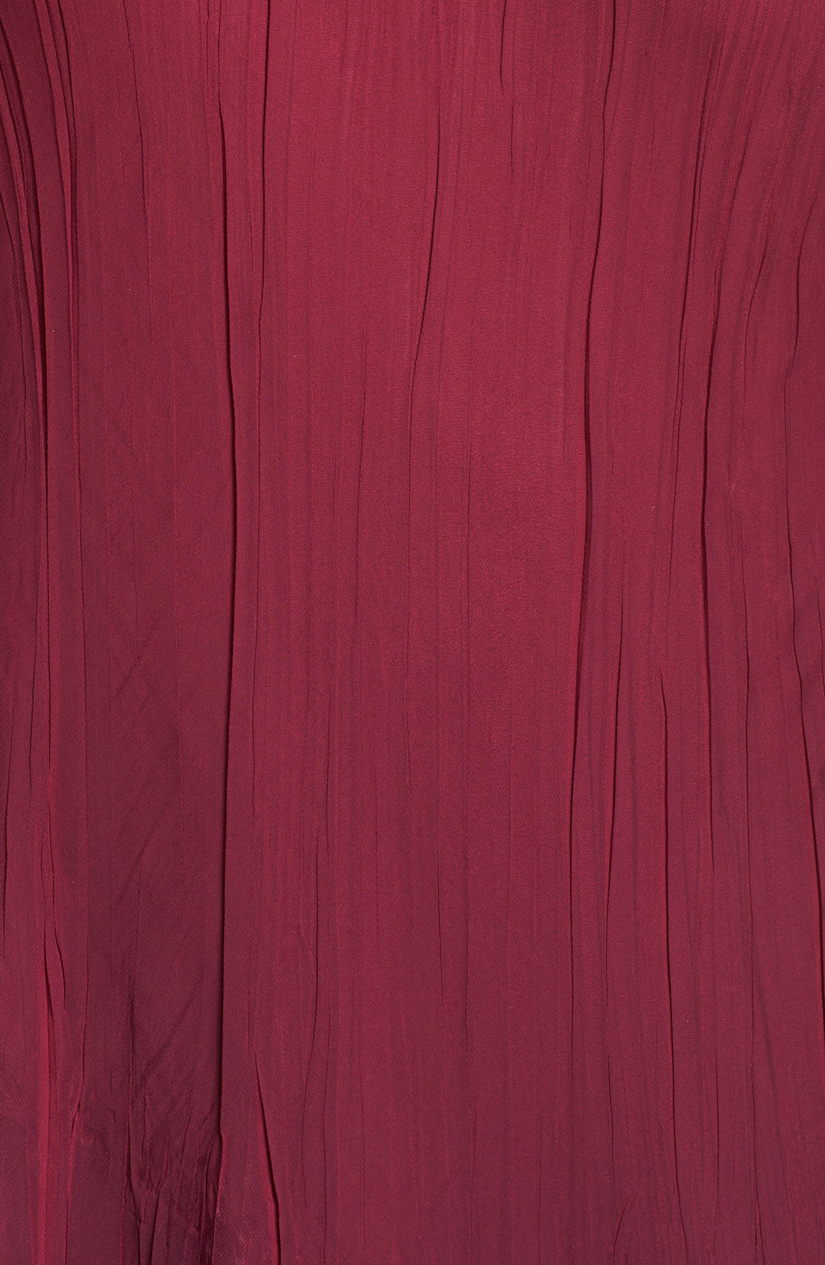 Tiered Ombrè Charmeuse & Chiffon Dress,                             Alternate thumbnail 5, color,