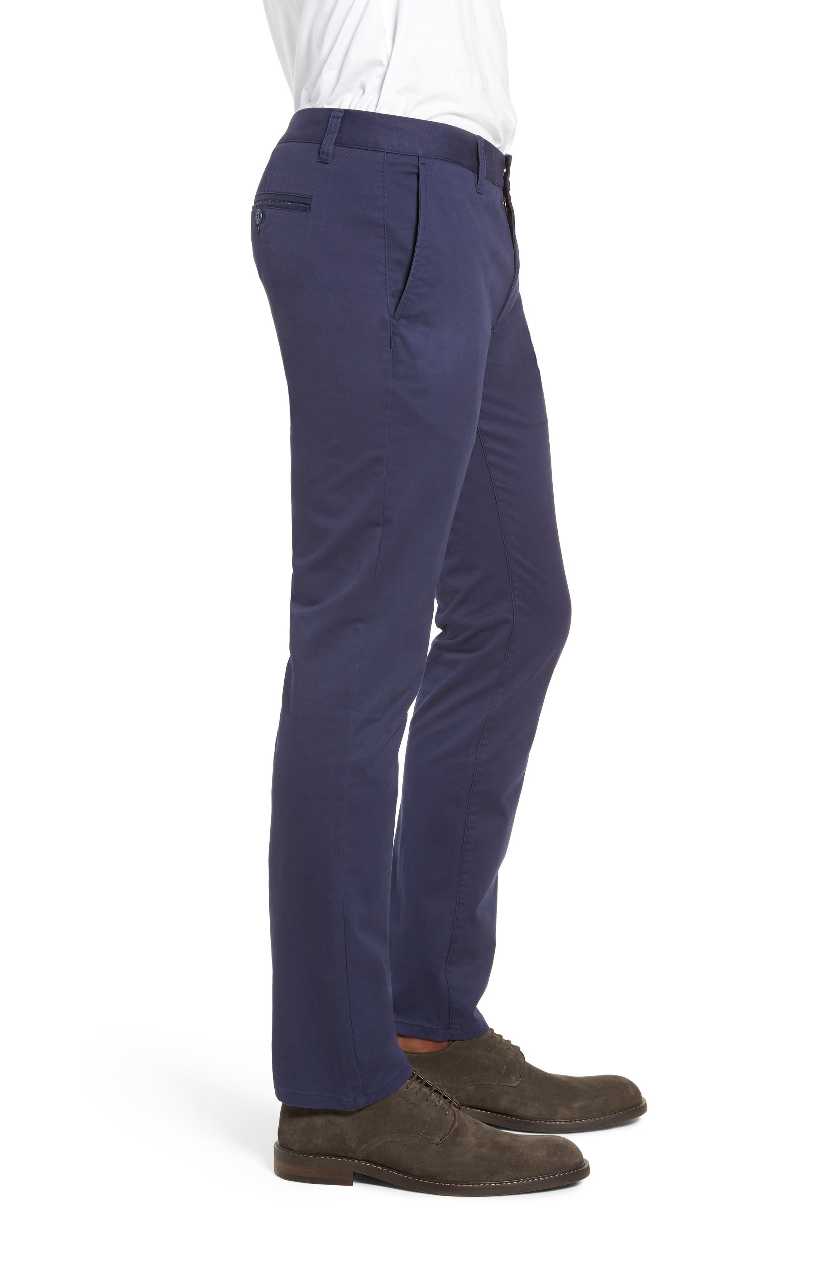 Tailored Fit Washed Stretch Cotton Chinos,                             Alternate thumbnail 84, color,