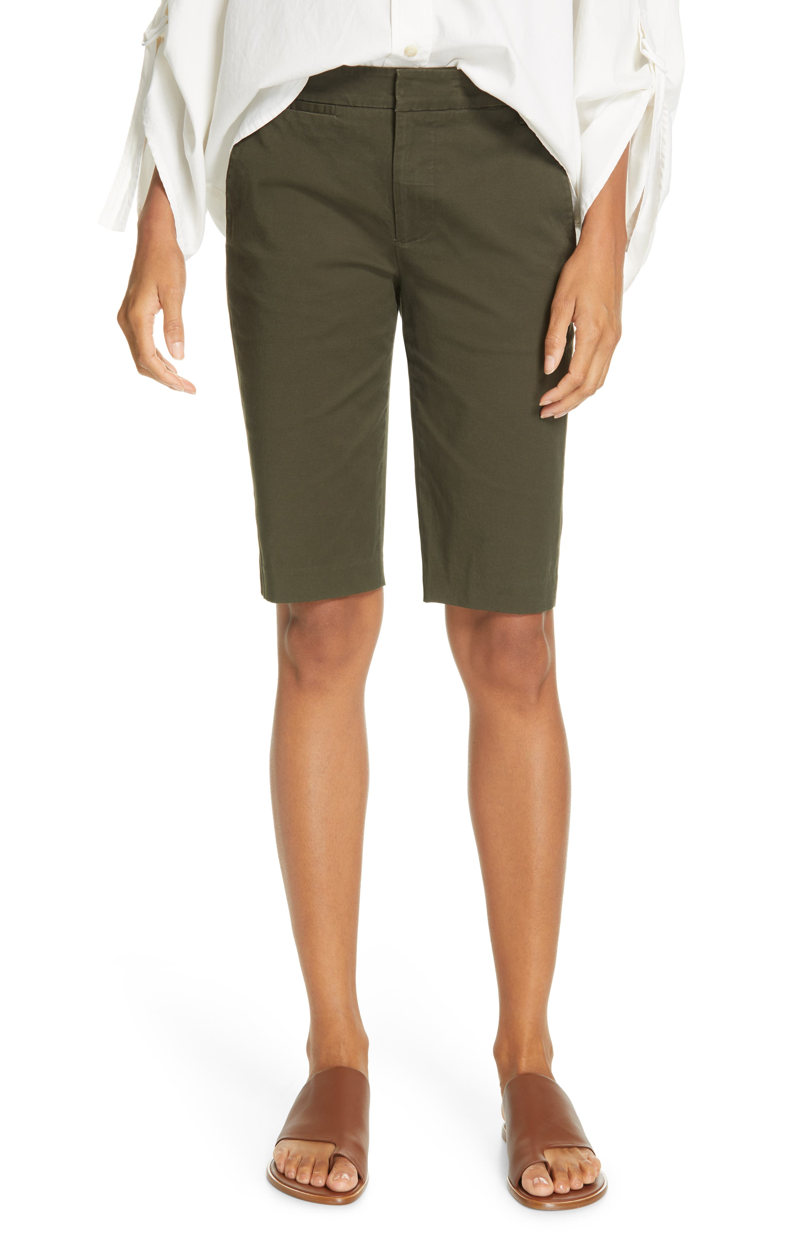 VINCE Bermuda Shorts, Main, color, ALPINE
