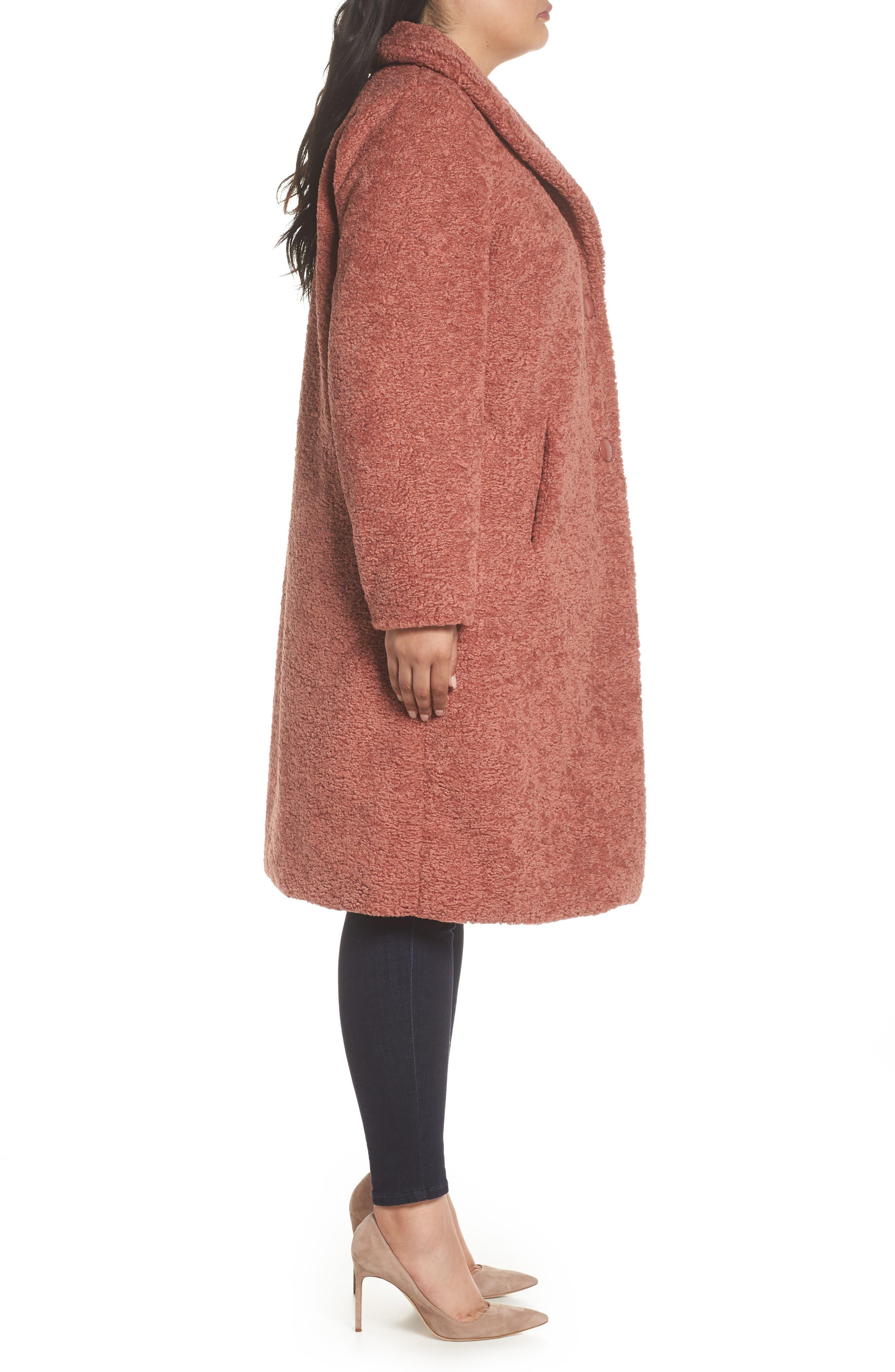 Faux Fur Coat,                             Alternate thumbnail 3, color,                             630