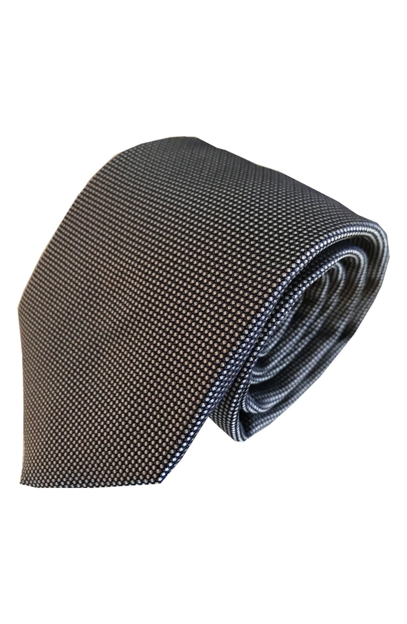 Mullet Silk Tie,                         Main,                         color, NAVY