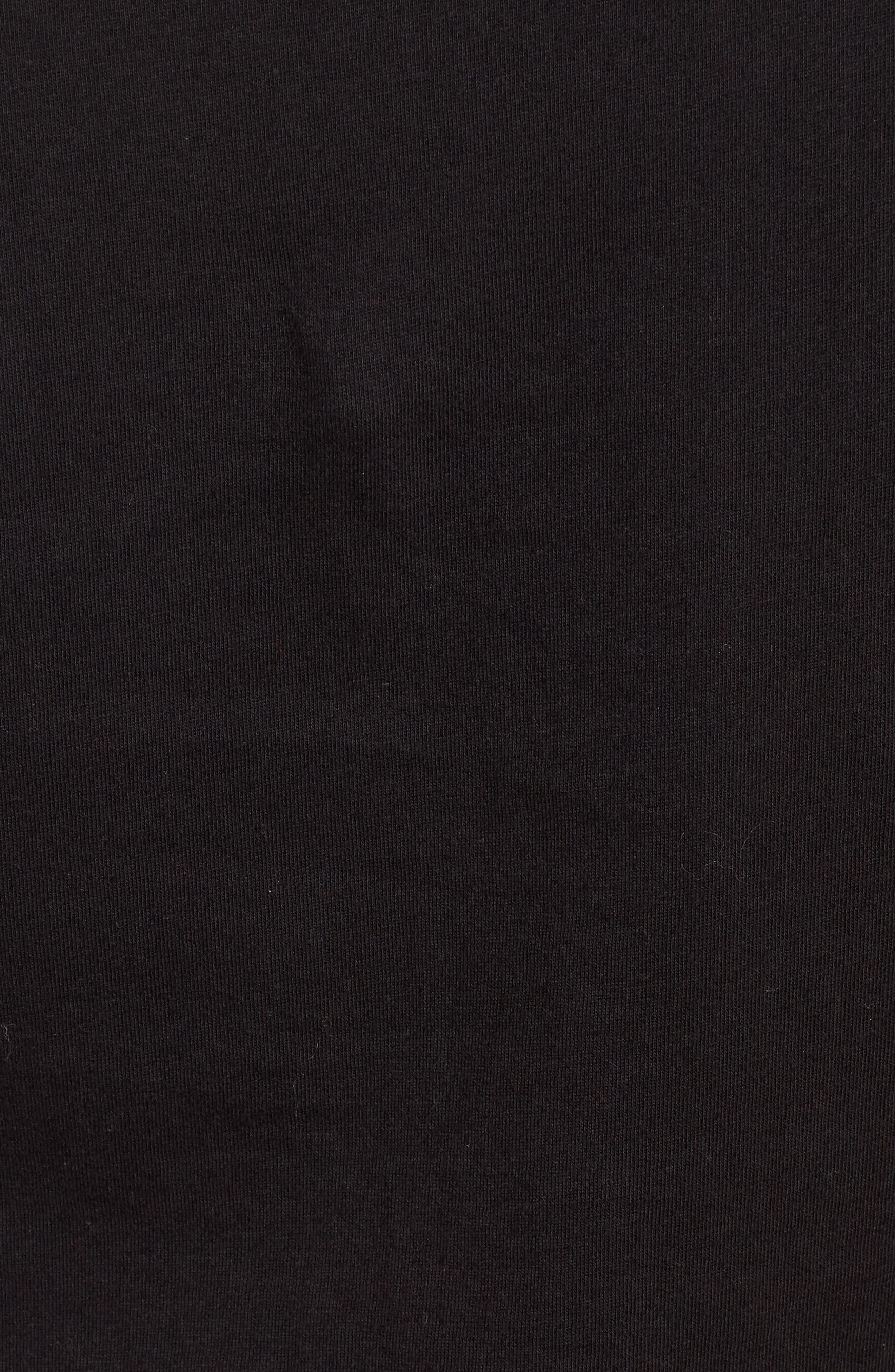 Rebel Ava Tee,                             Alternate thumbnail 5, color,                             BLACK/ WHITE