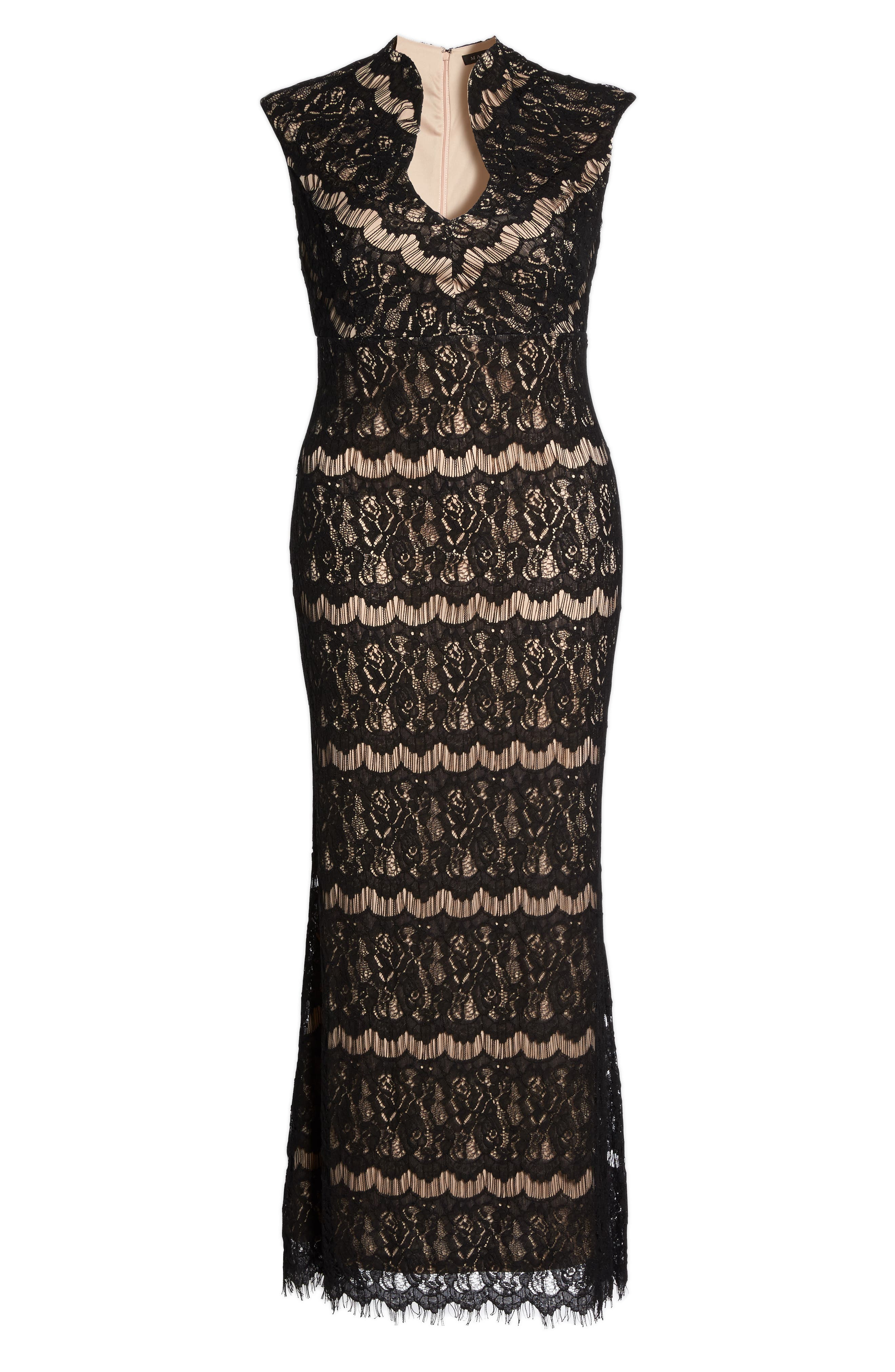 Lace Empire Gown,                             Alternate thumbnail 6, color,                             003