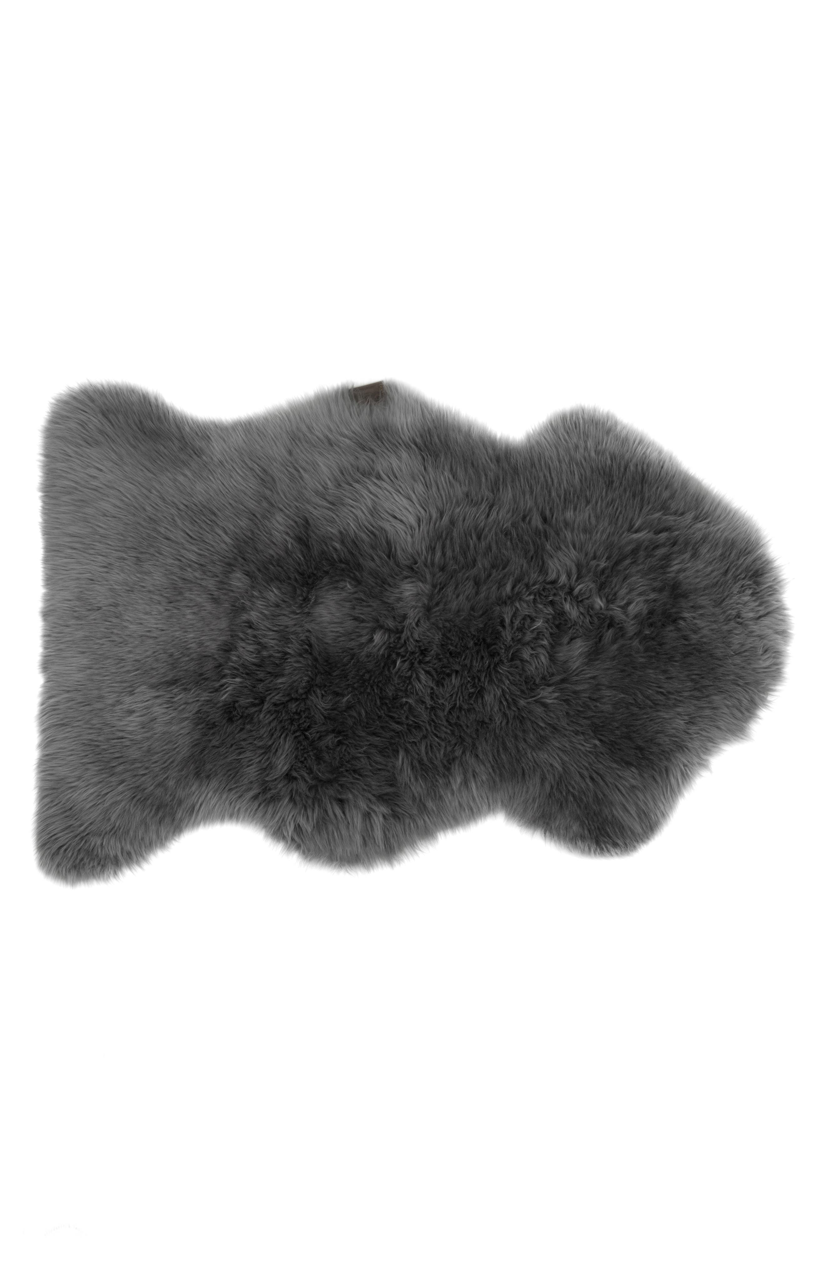 Genuine Sheepskin Rug,                             Alternate thumbnail 2, color,                             GREY