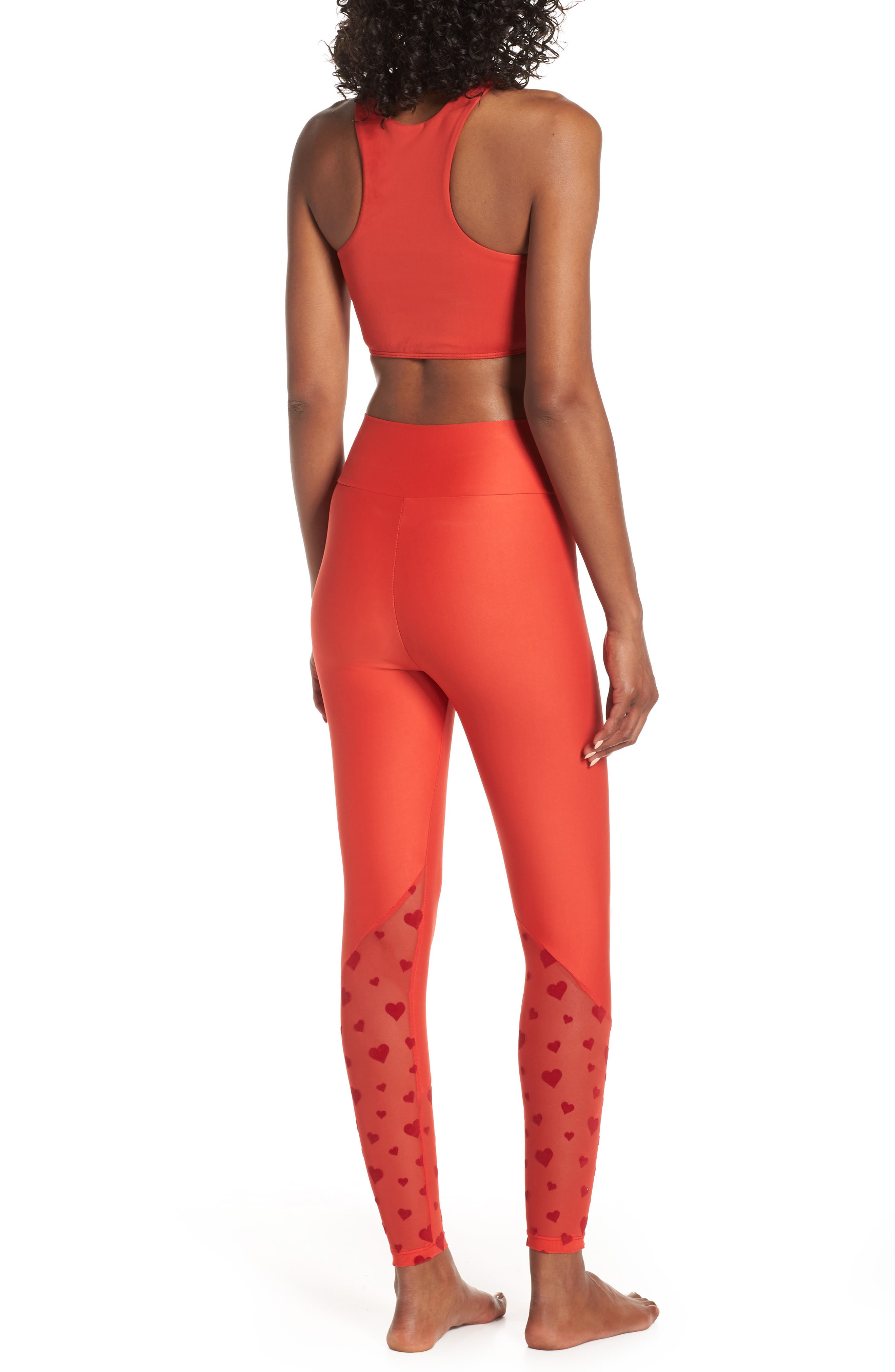 BEACH RIOT,                             Beach Leggings,                             Alternate thumbnail 9, color,                             RED HEART
