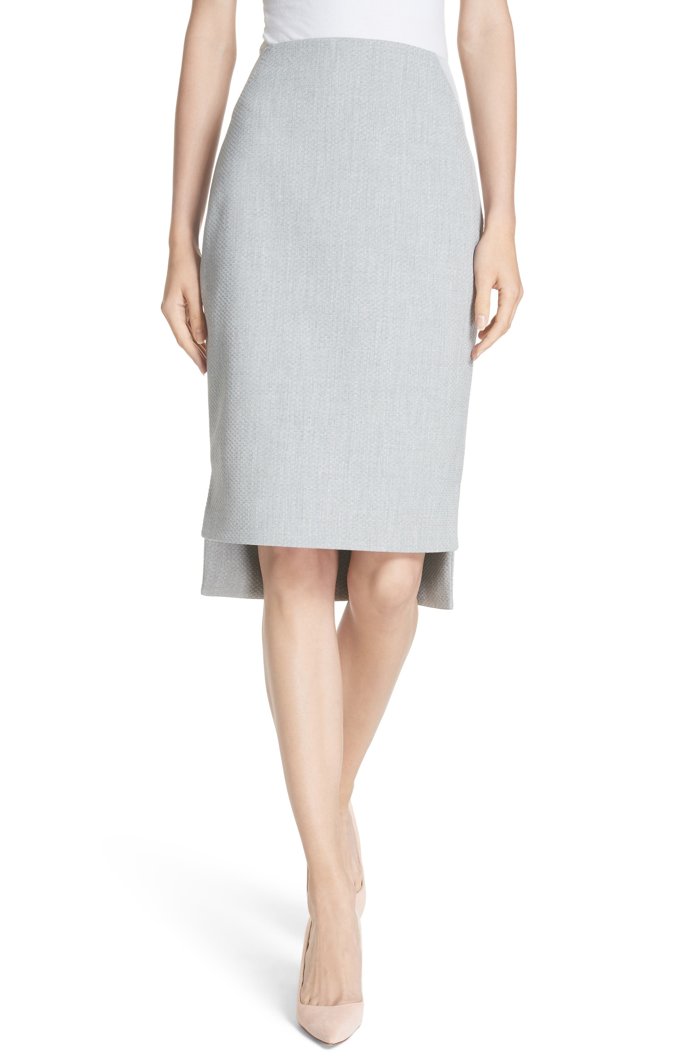 Ted Working Title Daizis Step Hem Pencil Skirt,                         Main,                         color, GREY