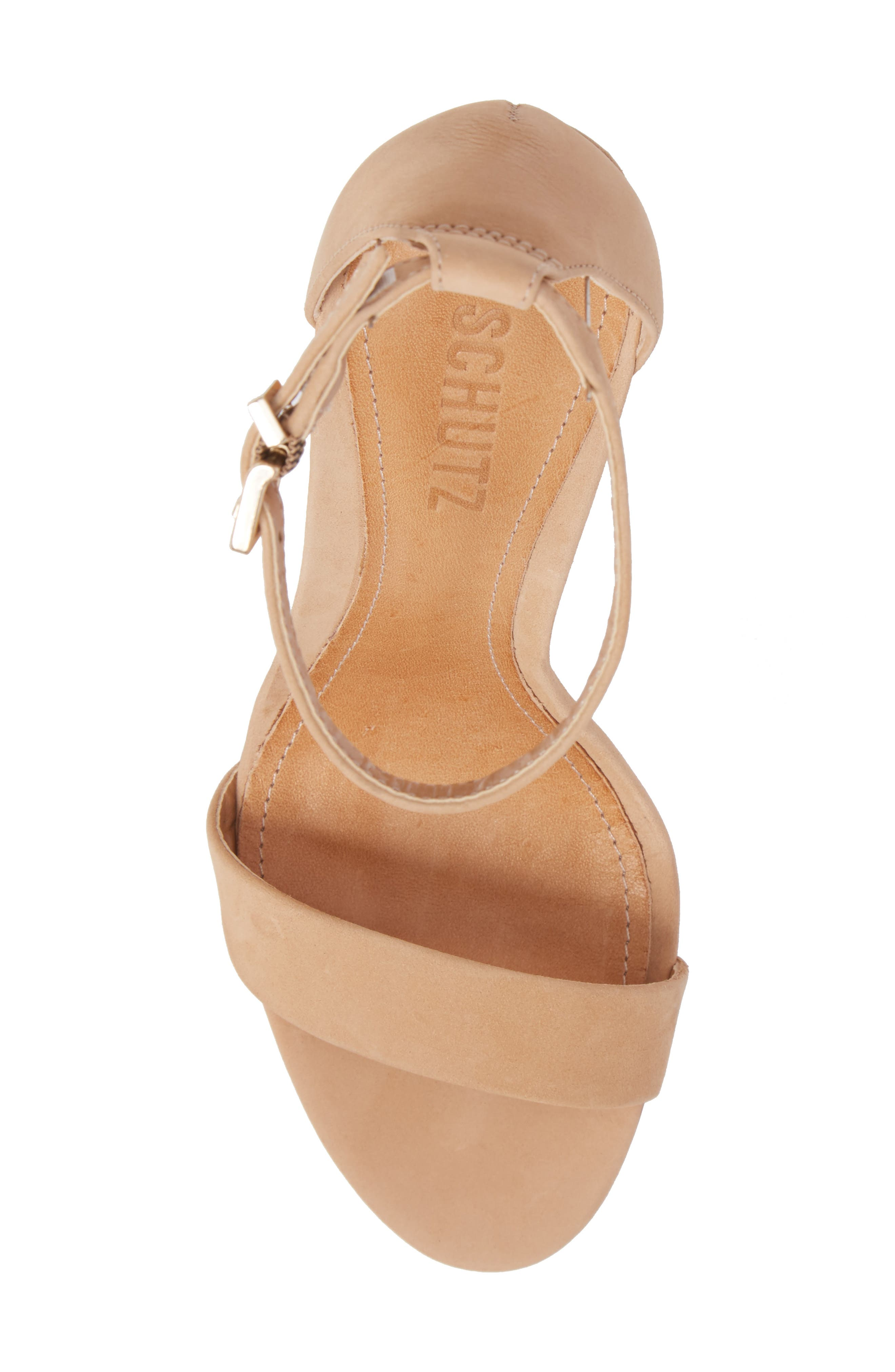 Enida Strappy Sandal,                             Alternate thumbnail 5, color,                             LIGHTWOOD NUBUCK LEATHER