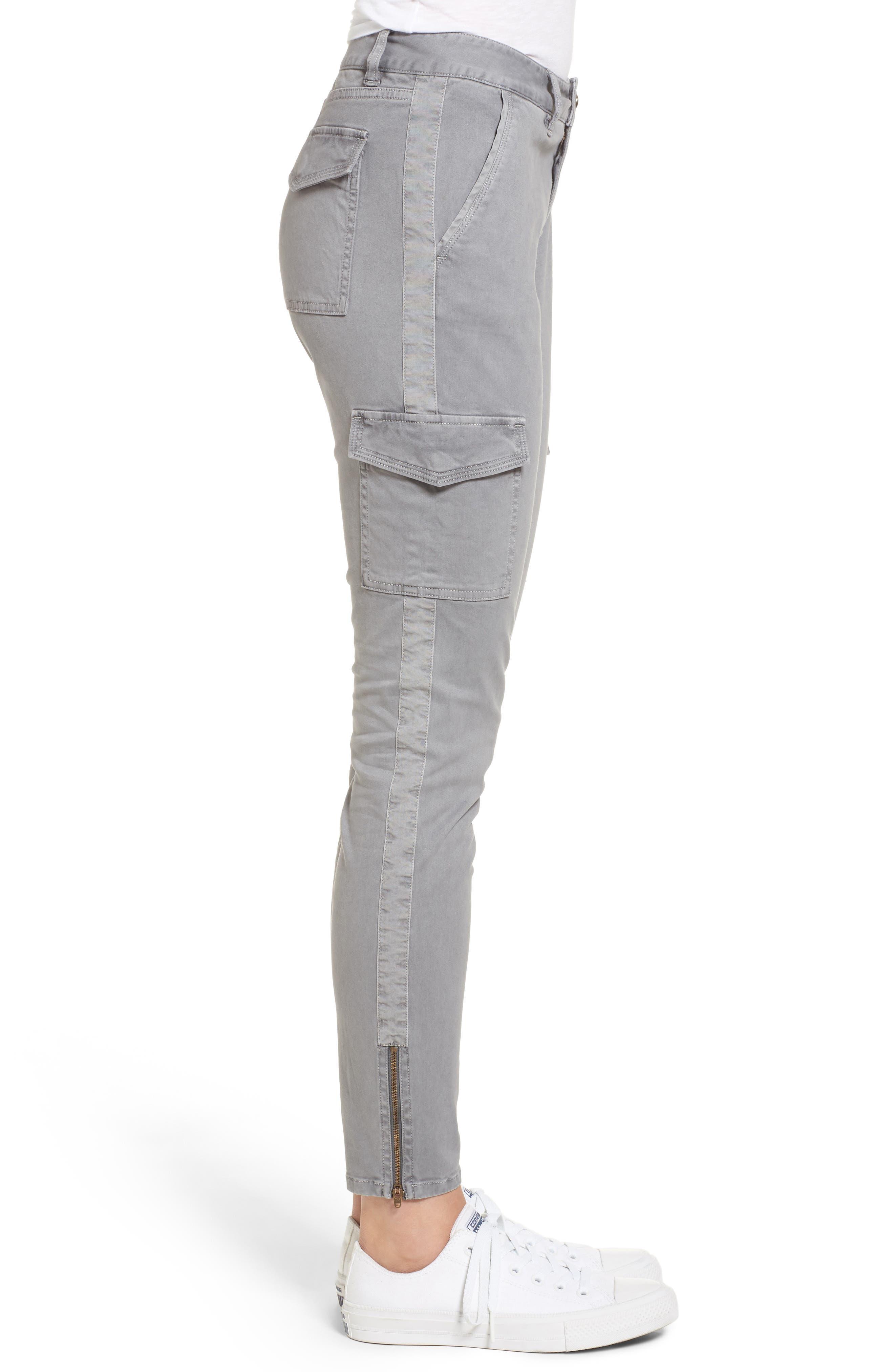 Garment Dyed Utility Skinny Pants,                             Alternate thumbnail 3, color,                             057