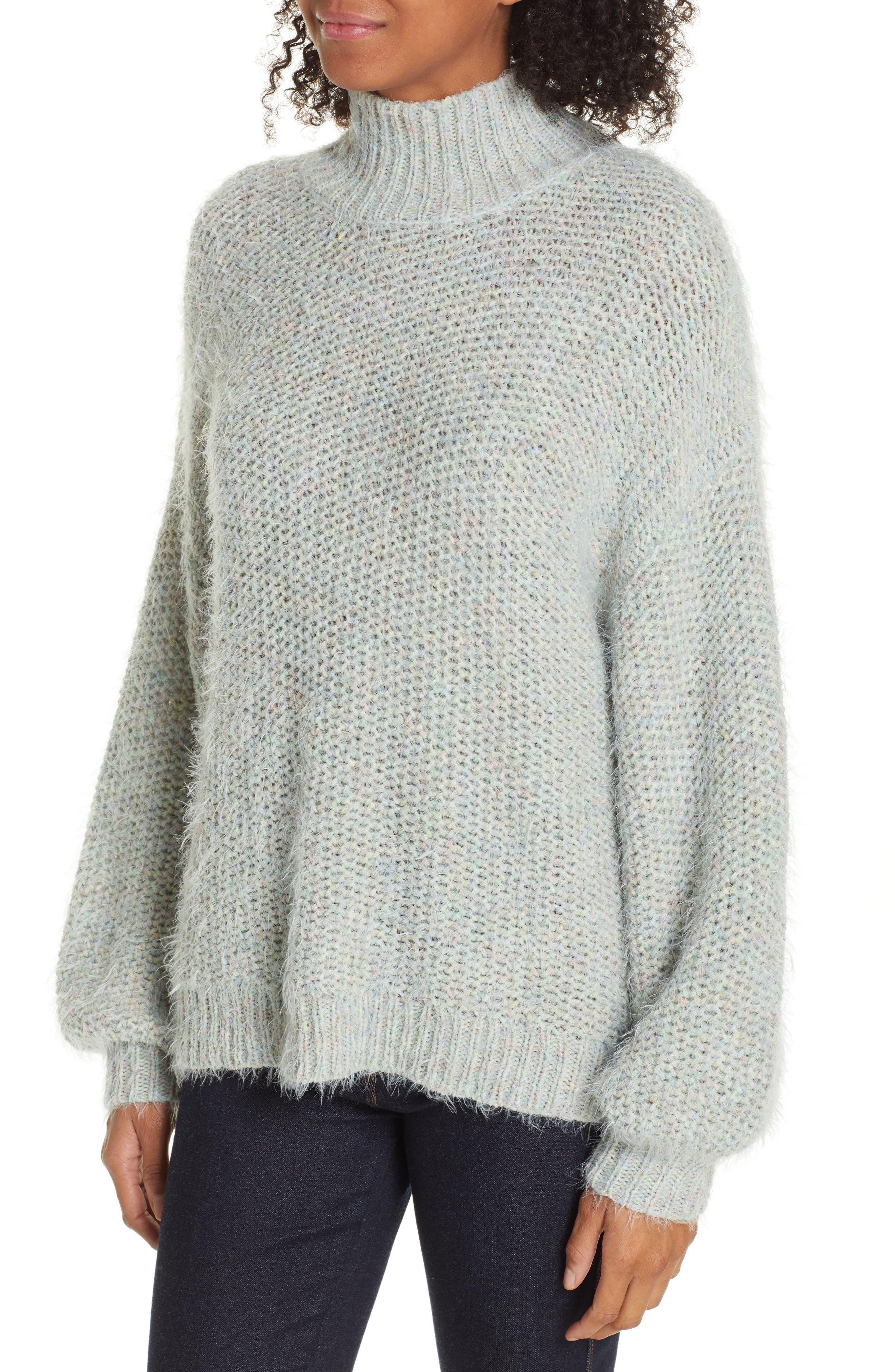 Markita Sweater,                             Alternate thumbnail 4, color,                             HEATHER CELADON